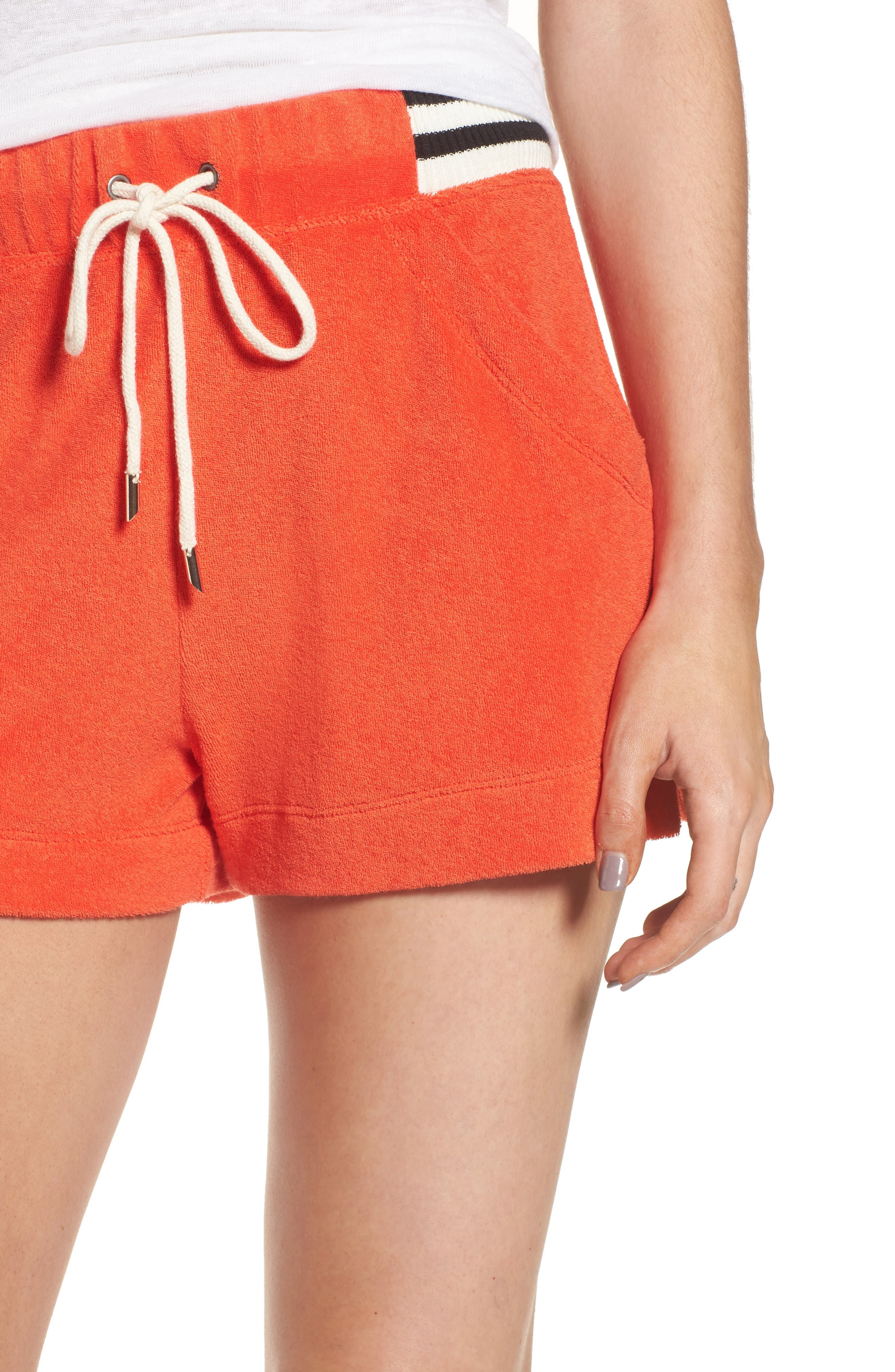 x Margherita Sportivo French Terry Shorts,                             Alternate thumbnail 4, color,                             Red