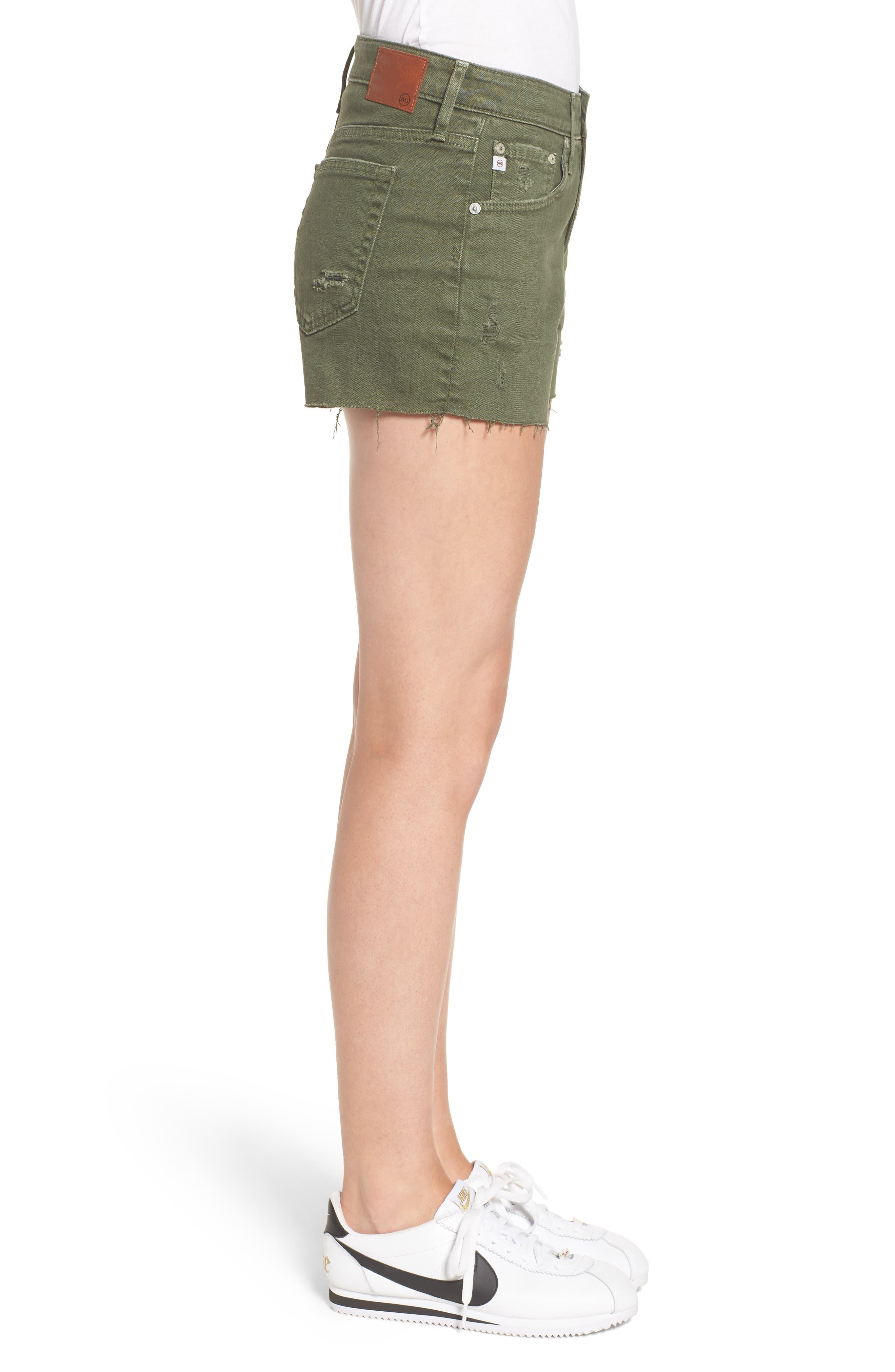 The Bryn High Waist Cutoff Denim Shorts,                             Alternate thumbnail 4, color,                             10 Years Remedy Desert Pine