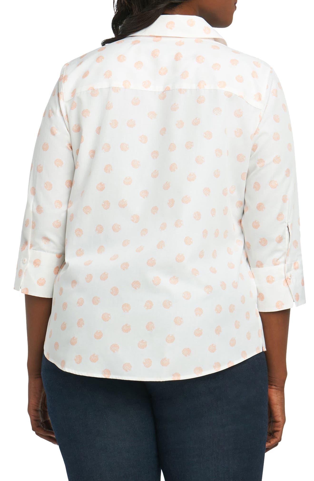 Mary Seashell Shirt,                             Alternate thumbnail 2, color,                             Shell Coral