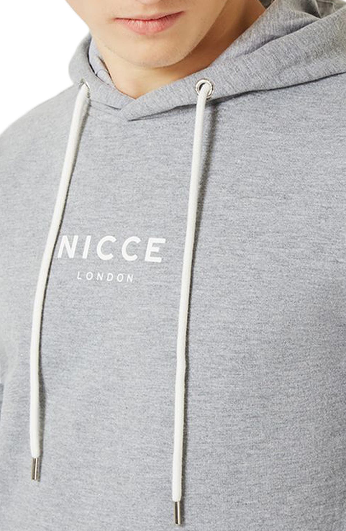 NICCE Slim Fit Colorblock Hoodie,                             Alternate thumbnail 3, color,                             Light Grey Multi