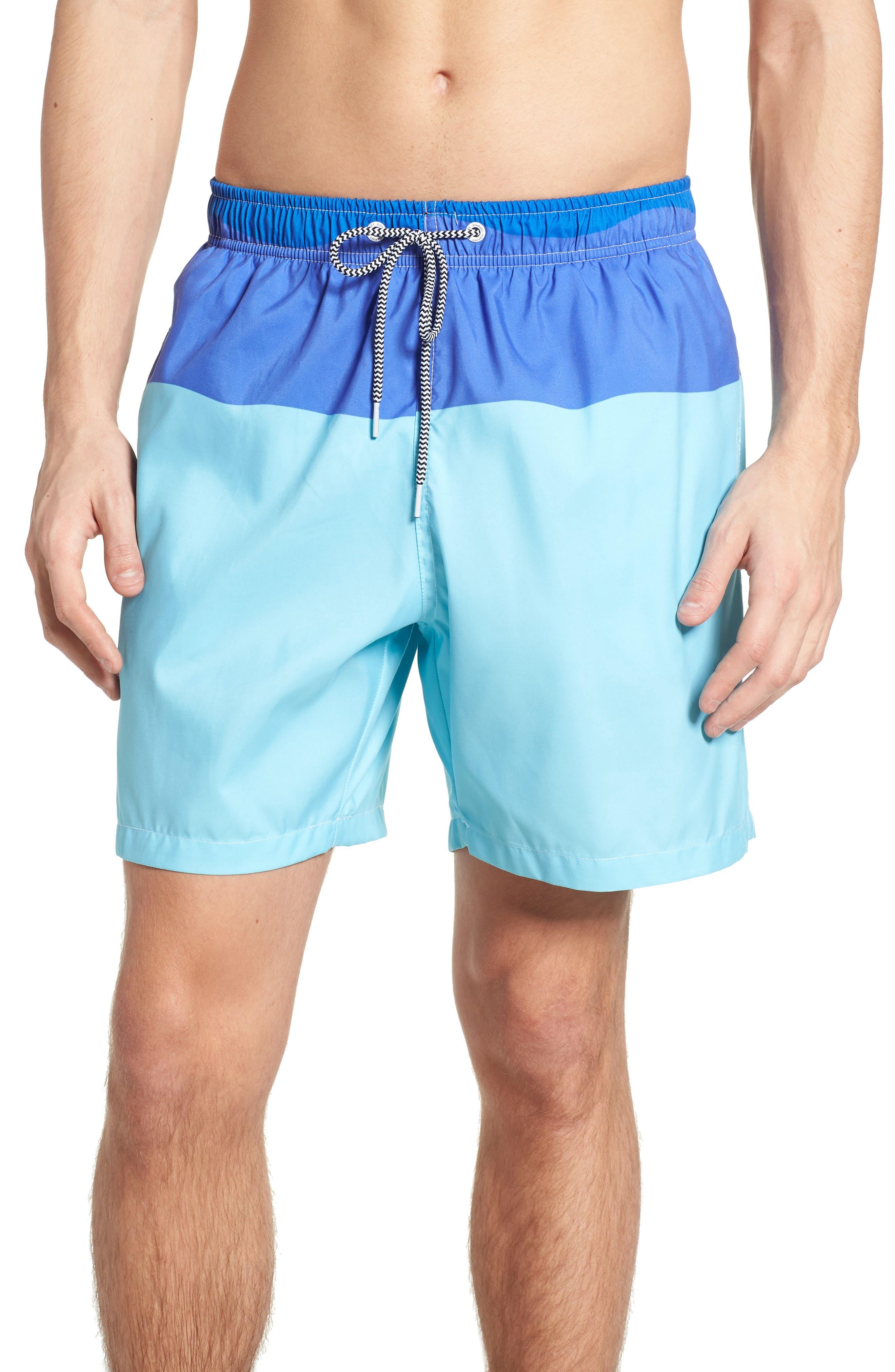 Swim Trunks,                         Main,                         color, Blue