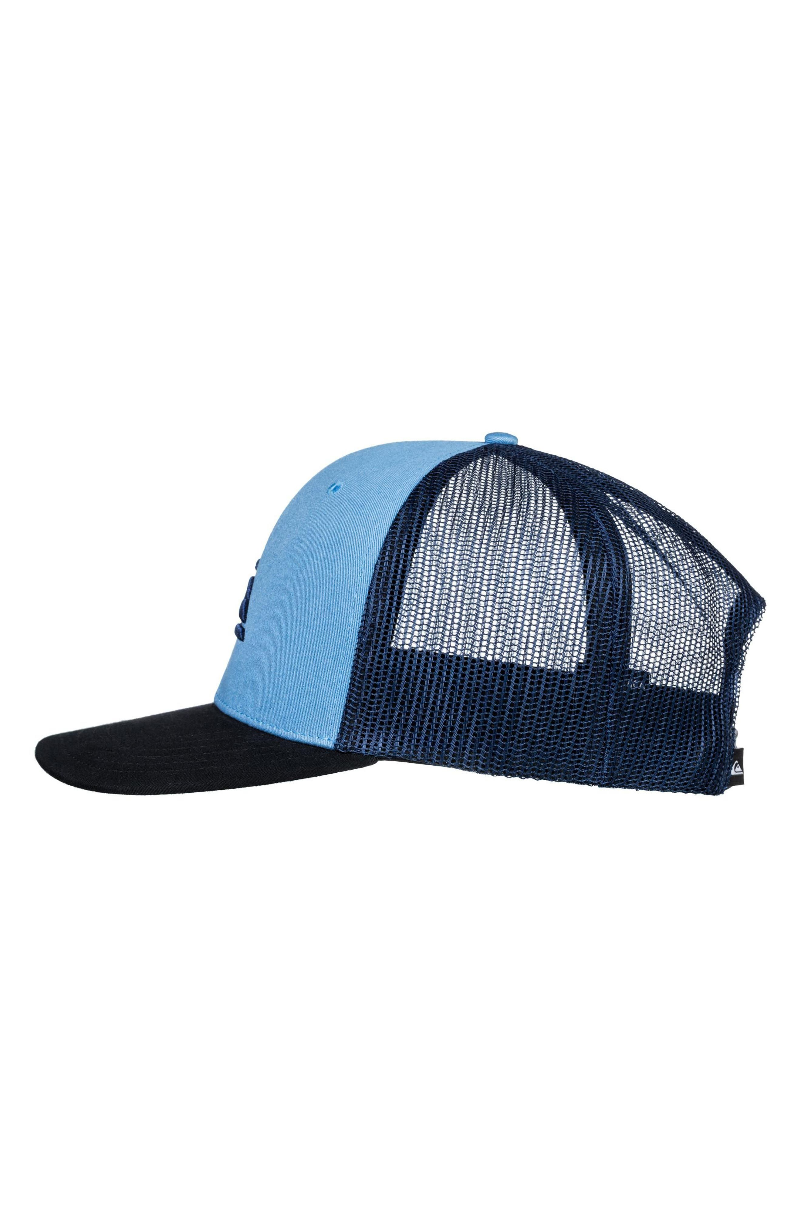 Grounder Trucker Hat,                             Alternate thumbnail 3, color,                             Dusk Blue