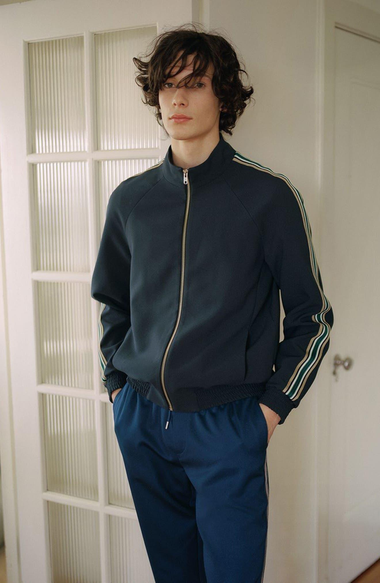 Track Jacket,                             Alternate thumbnail 5, color,                             Dark Blue Multi