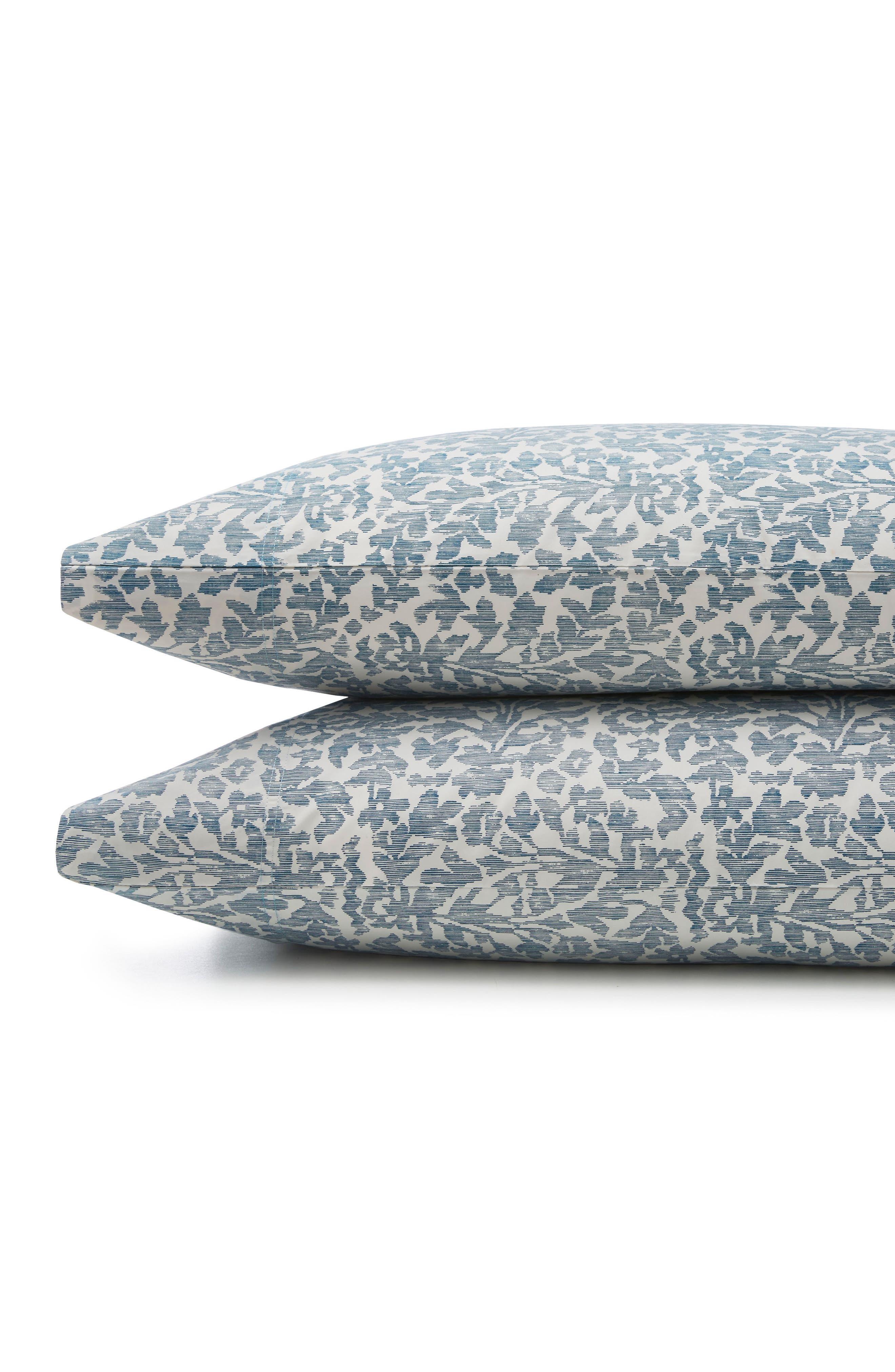 Oaxaca 300 Thread Count Pair of Pillowcases,                         Main,                         color, Azure/ Turquoise/ Aqua