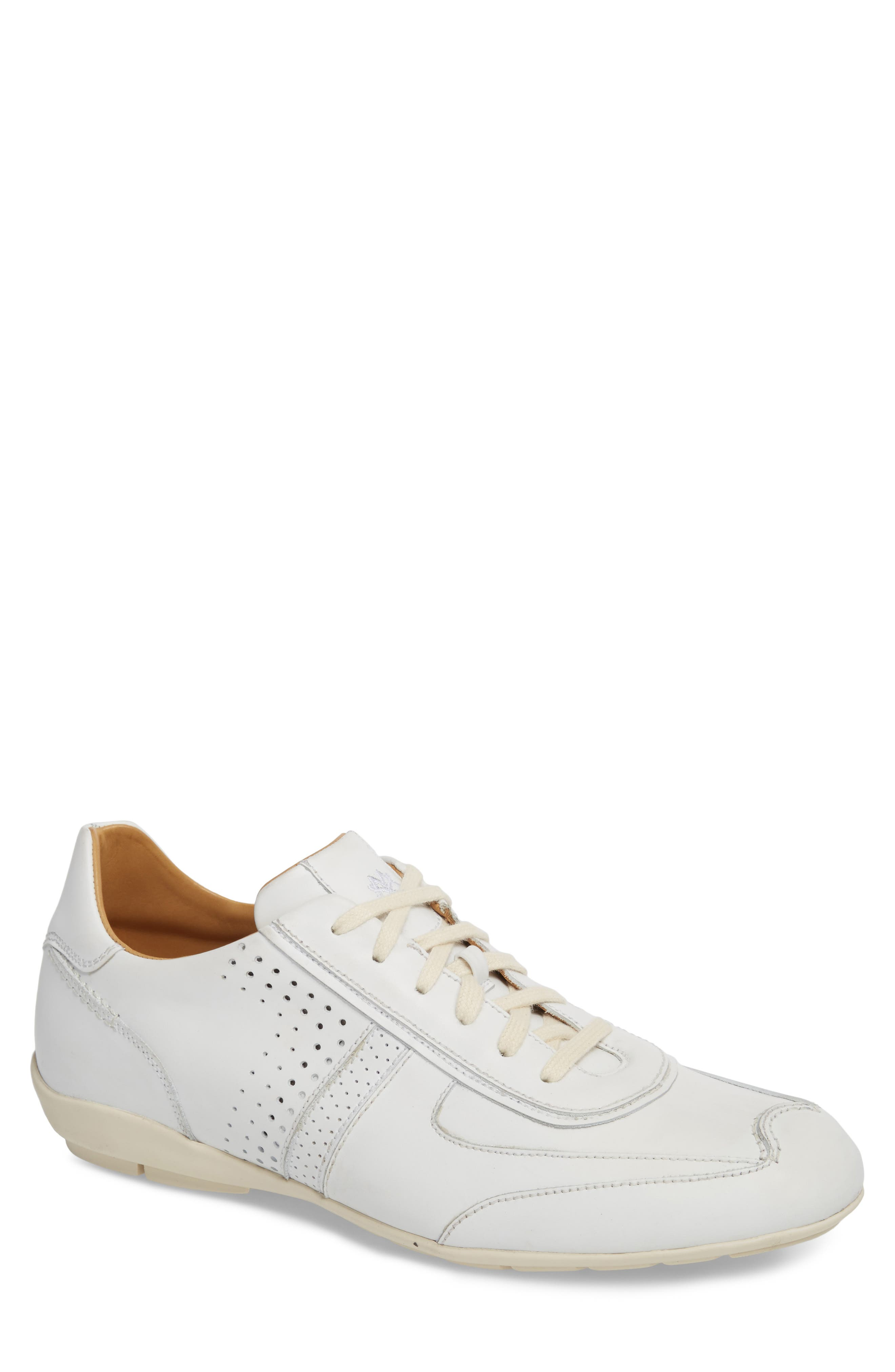 Lozano Ii Low Top Sneaker in White Leather