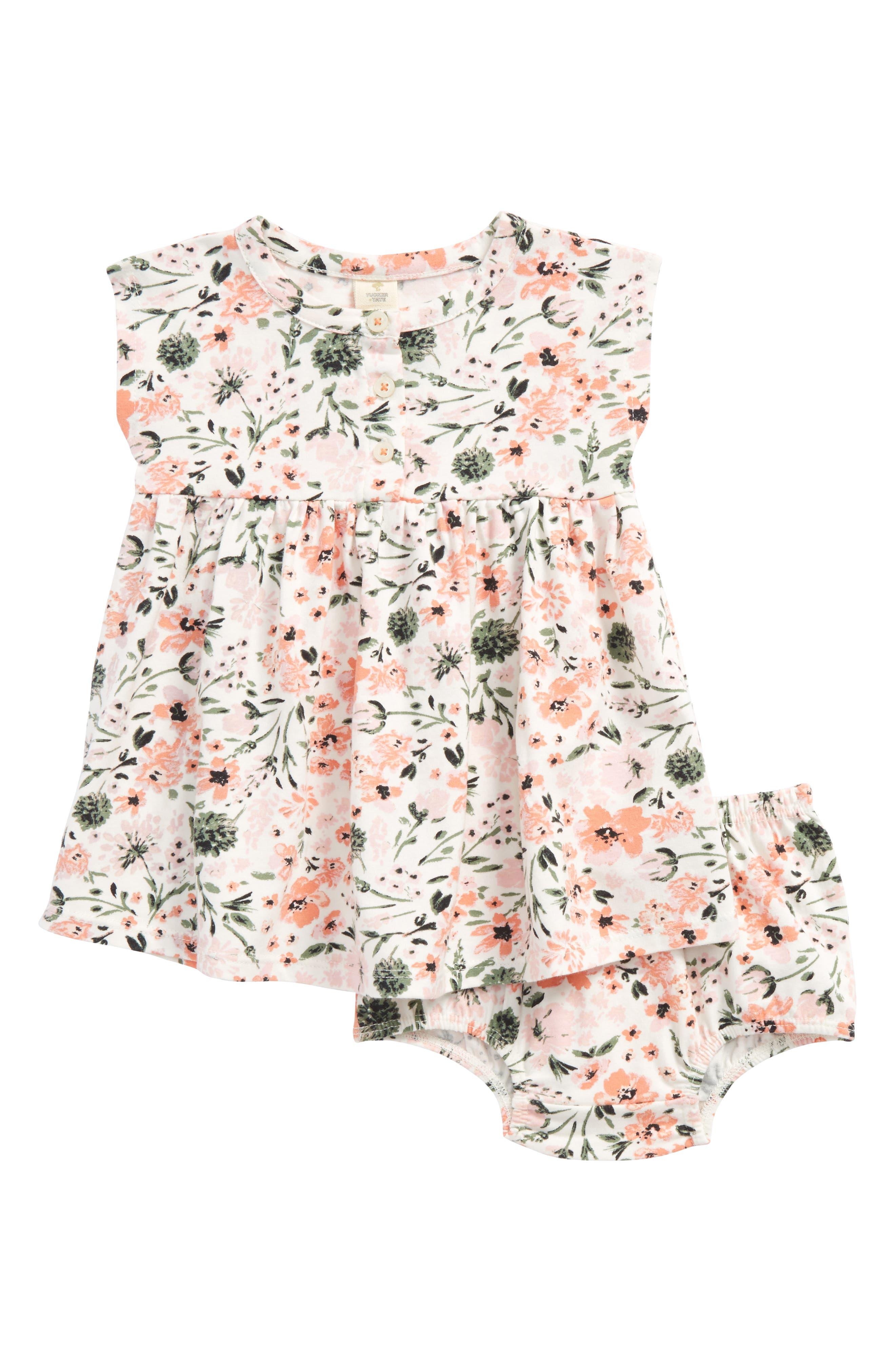 Tucker + Tate Essential Print Knit Dress (Baby Girls)