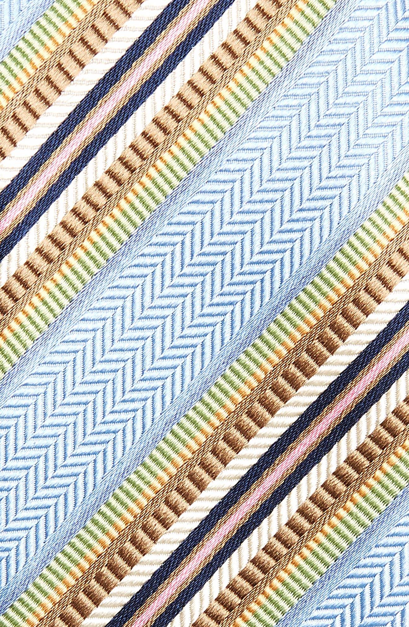 Stripe Silk Tie,                             Alternate thumbnail 2, color,                             Light Blue