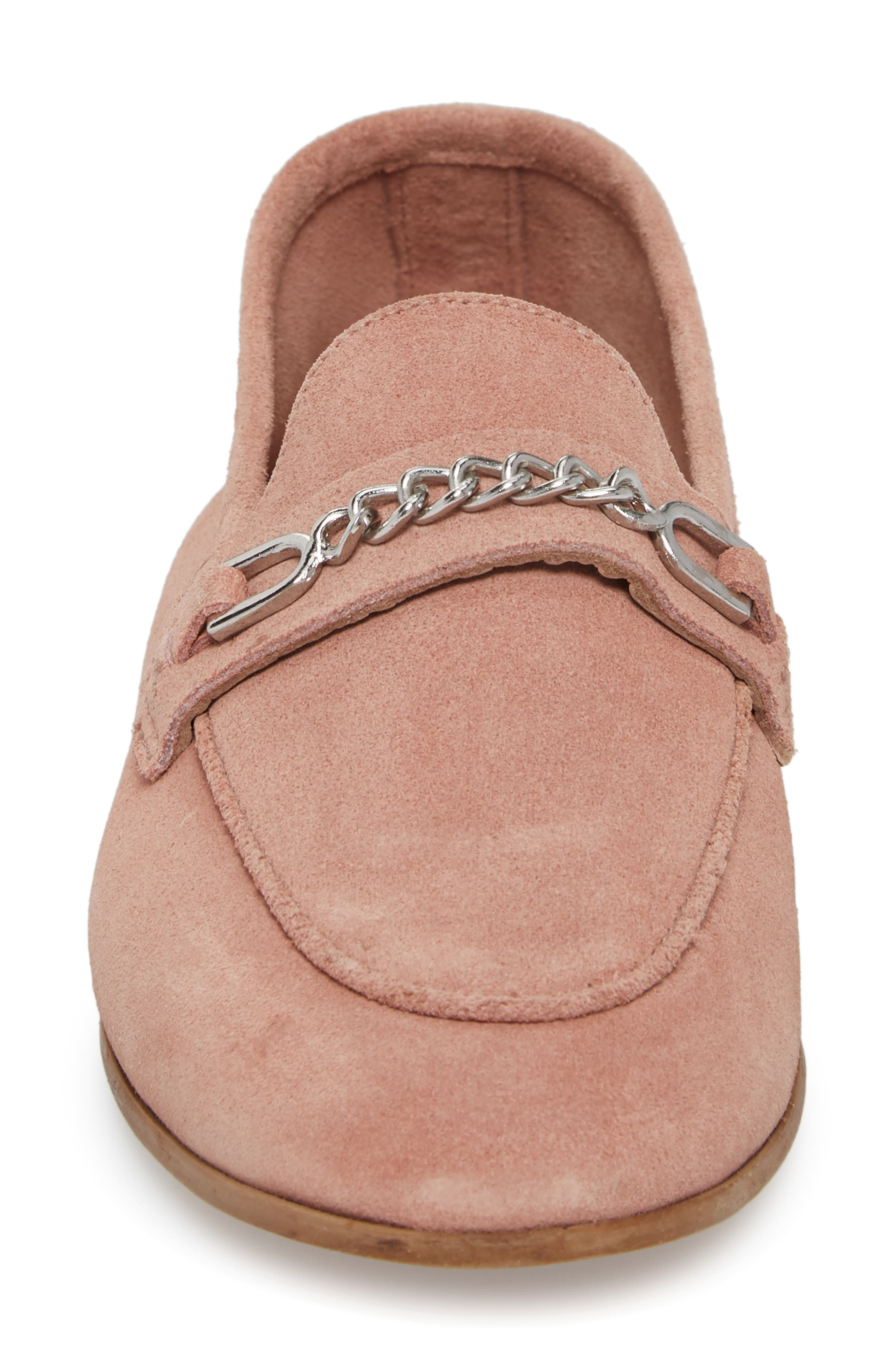 Key Trim Chain Loafer,                             Alternate thumbnail 4, color,                             Pink Multi