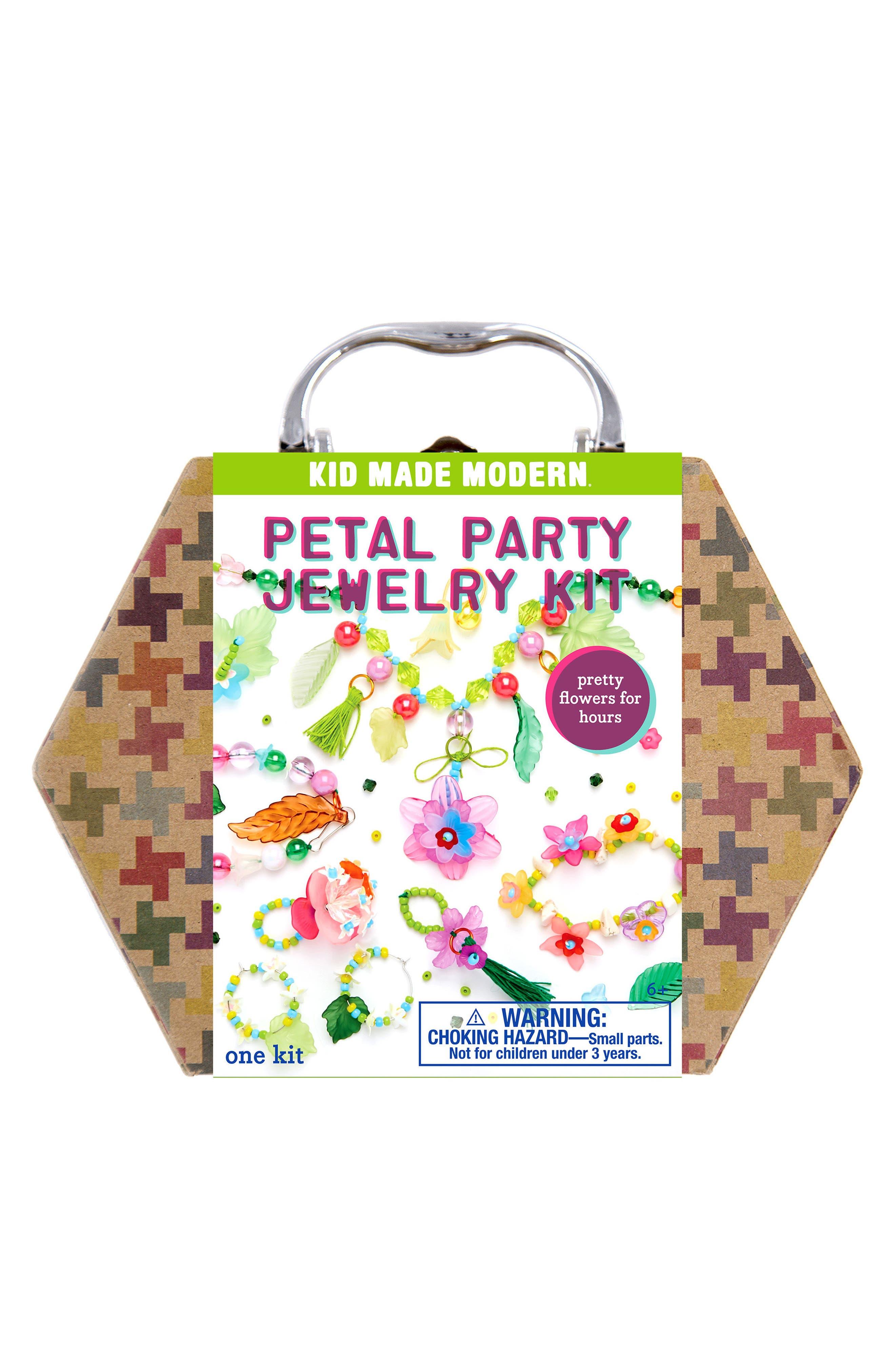 Petal Party Jewelry Kit,                             Main thumbnail 1, color,                             Green
