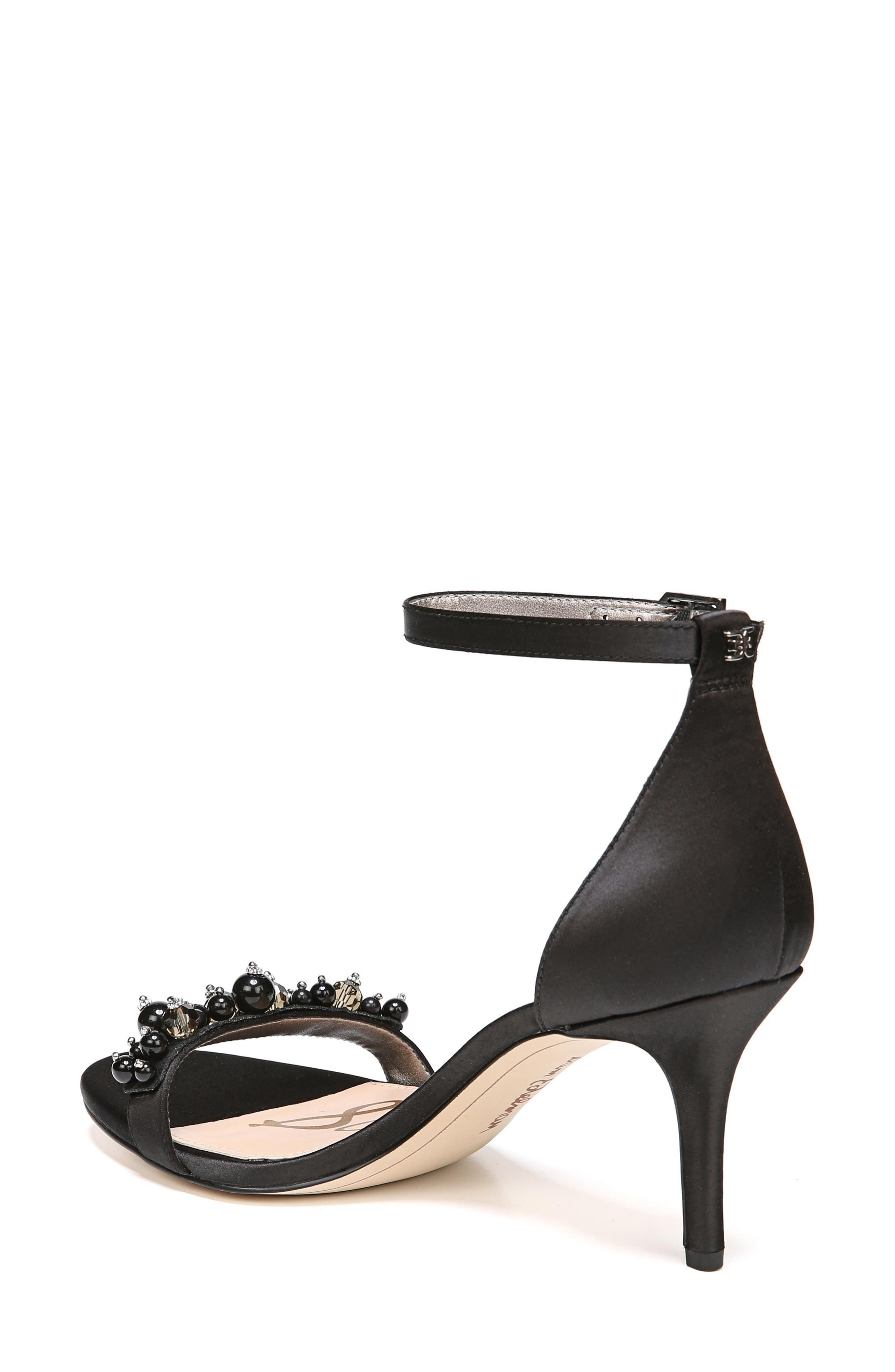 Platt Embellished Sandal,                             Alternate thumbnail 2, color,                             Black Satin