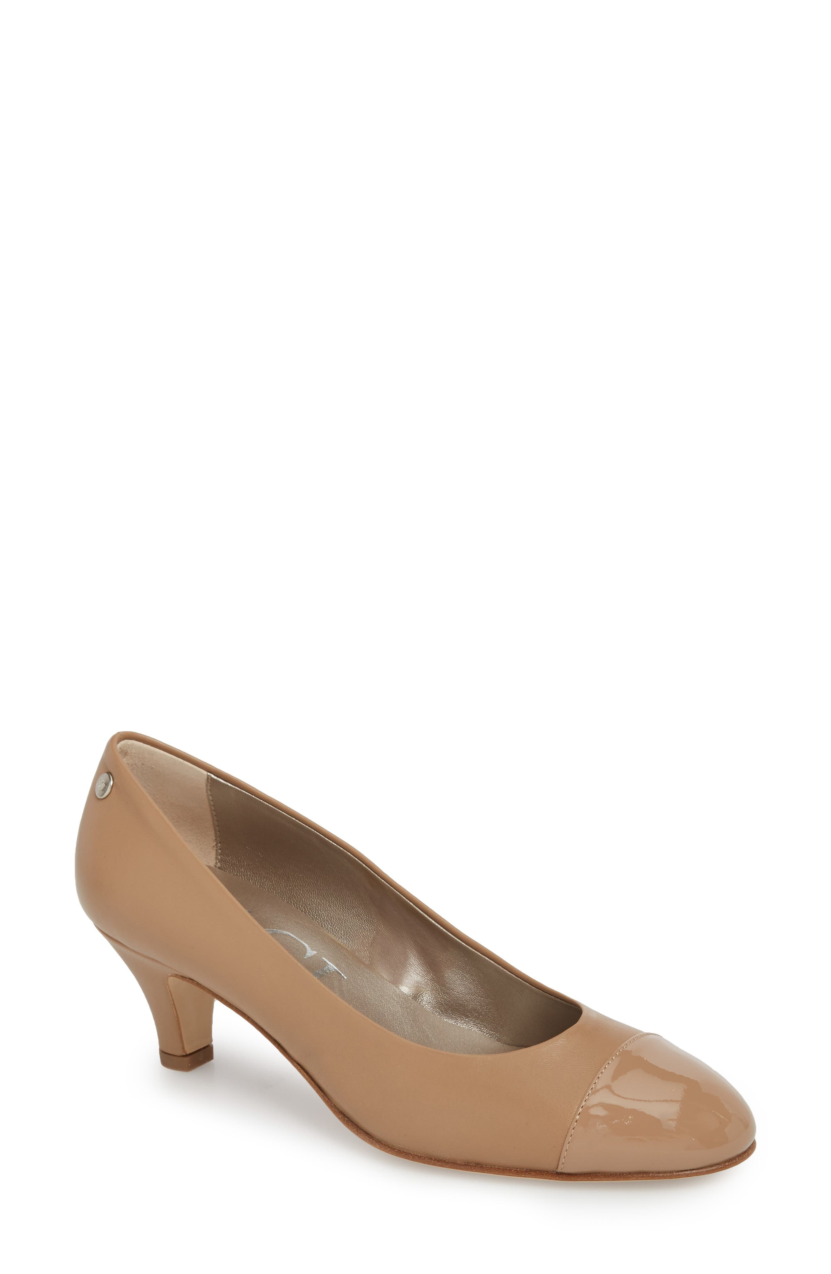 Alternate Image 1 Selected - AGL Cap Toe Pump (Women)