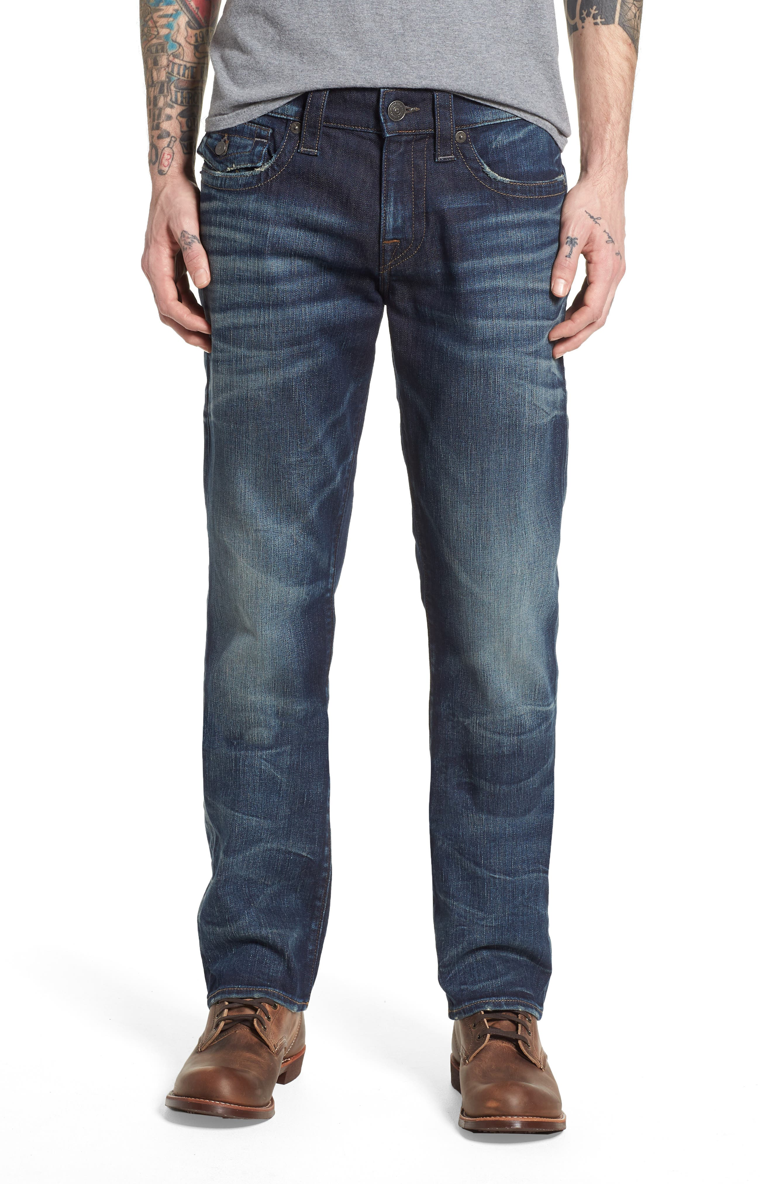 True Religion Brand Jeans Ricky Relaxed Fit Jeans (Combat Blues)