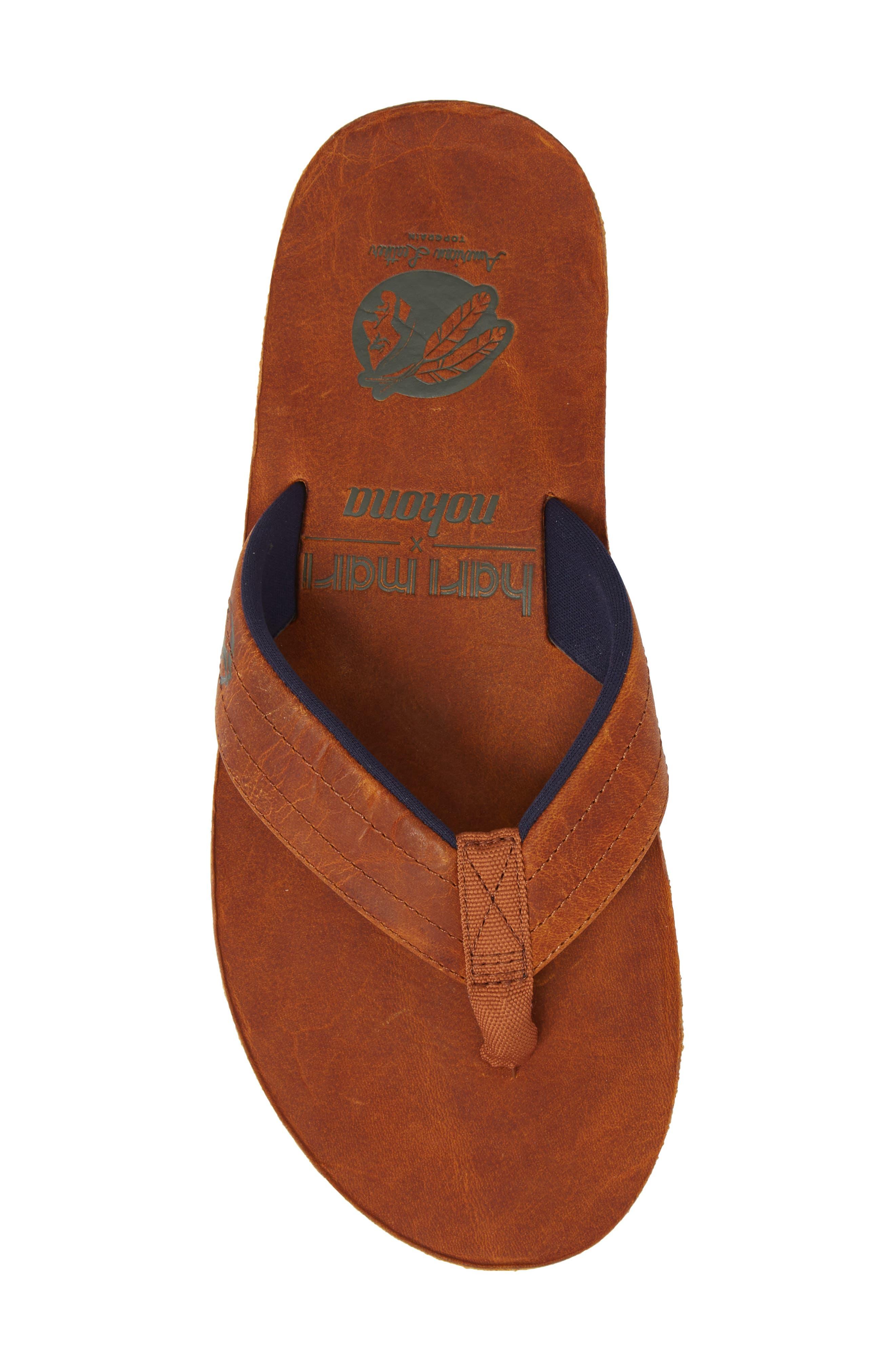 Nokona Flip Flop,                             Alternate thumbnail 5, color,                             Generation Brown Leather