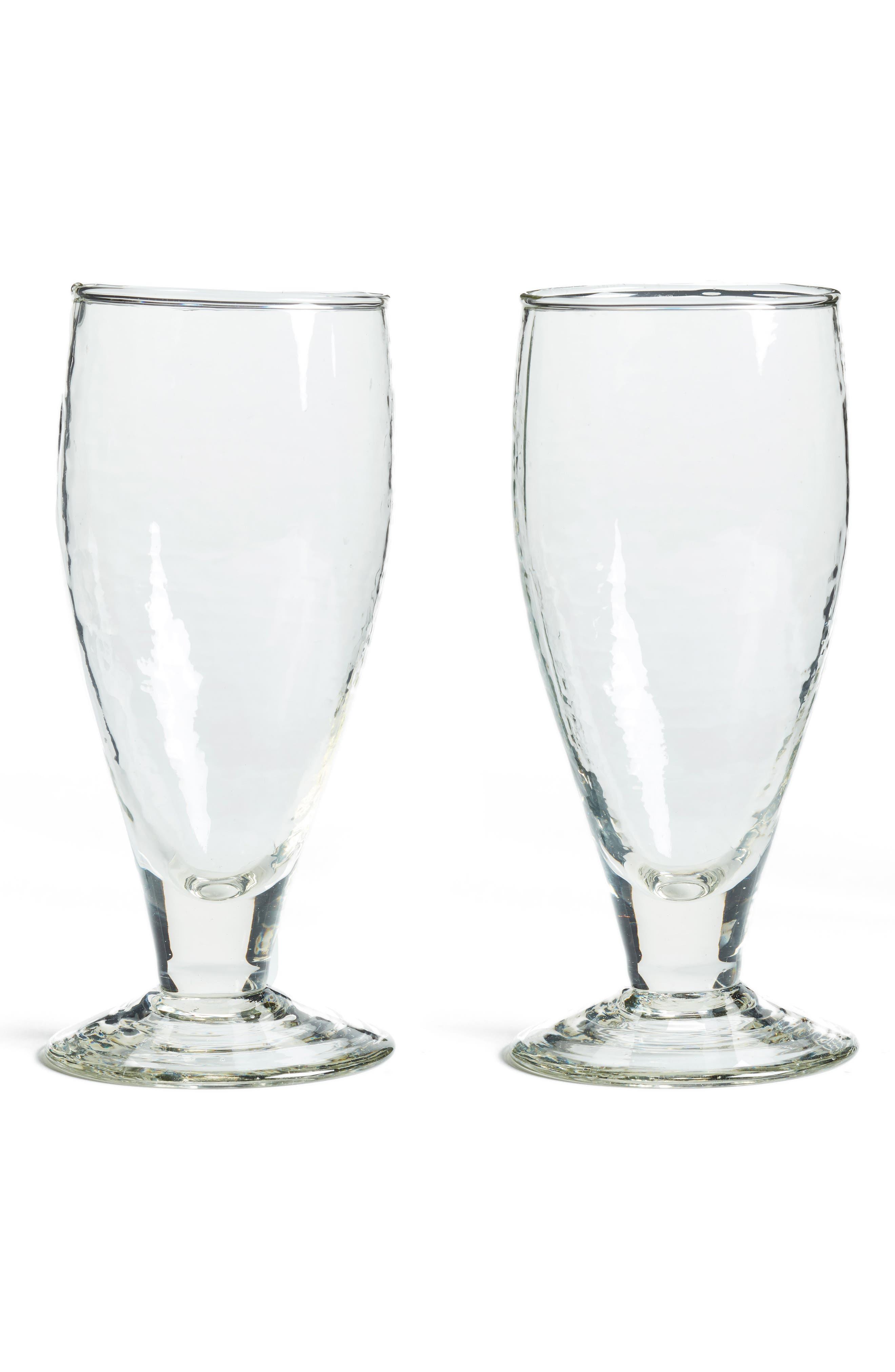 Set of 2 Hammered Goblets,                         Main,                         color, Clear