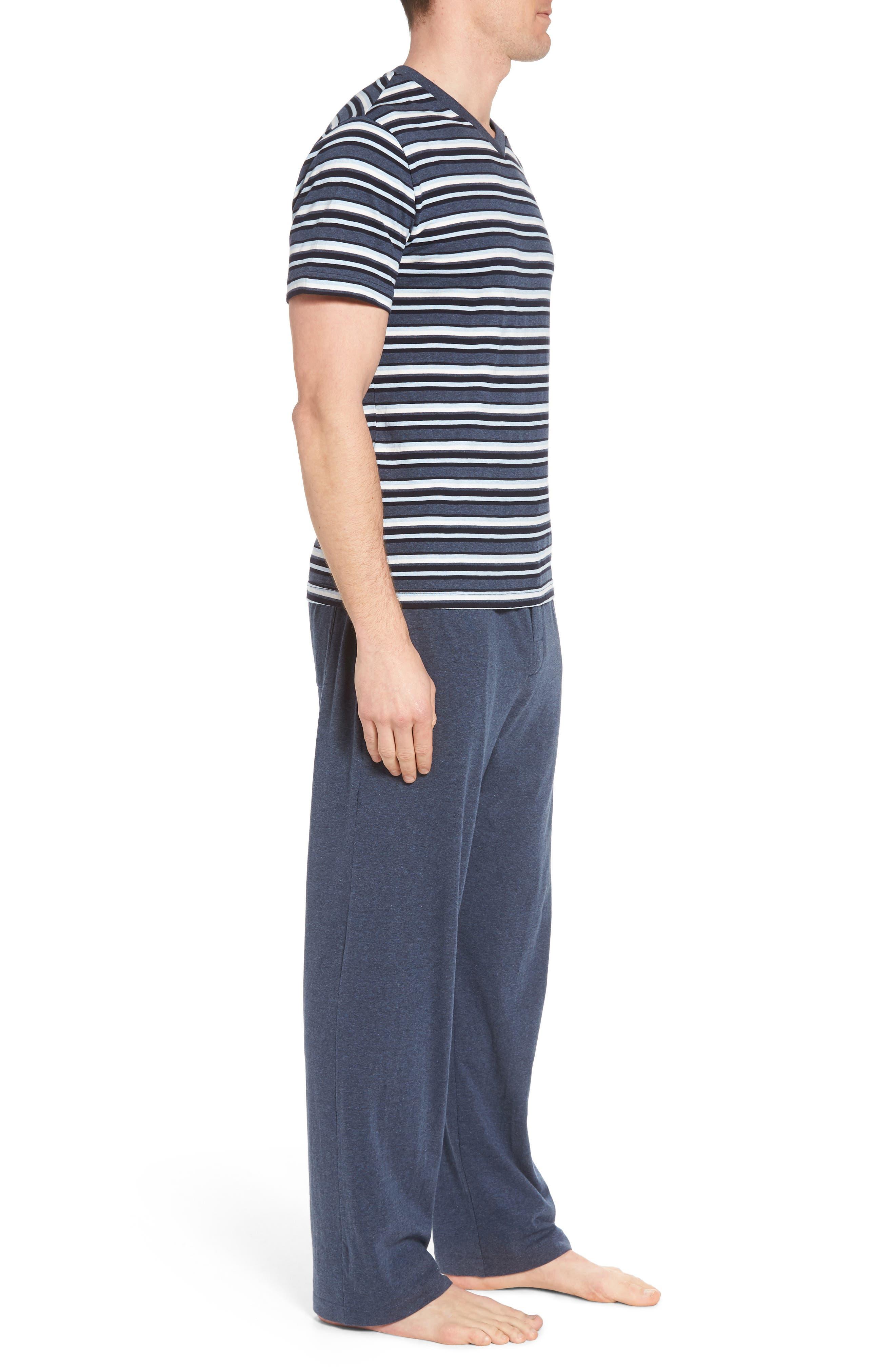 Majetic International Sleep On It Pajama Set,                             Alternate thumbnail 3, color,                             Alfresco Stripe