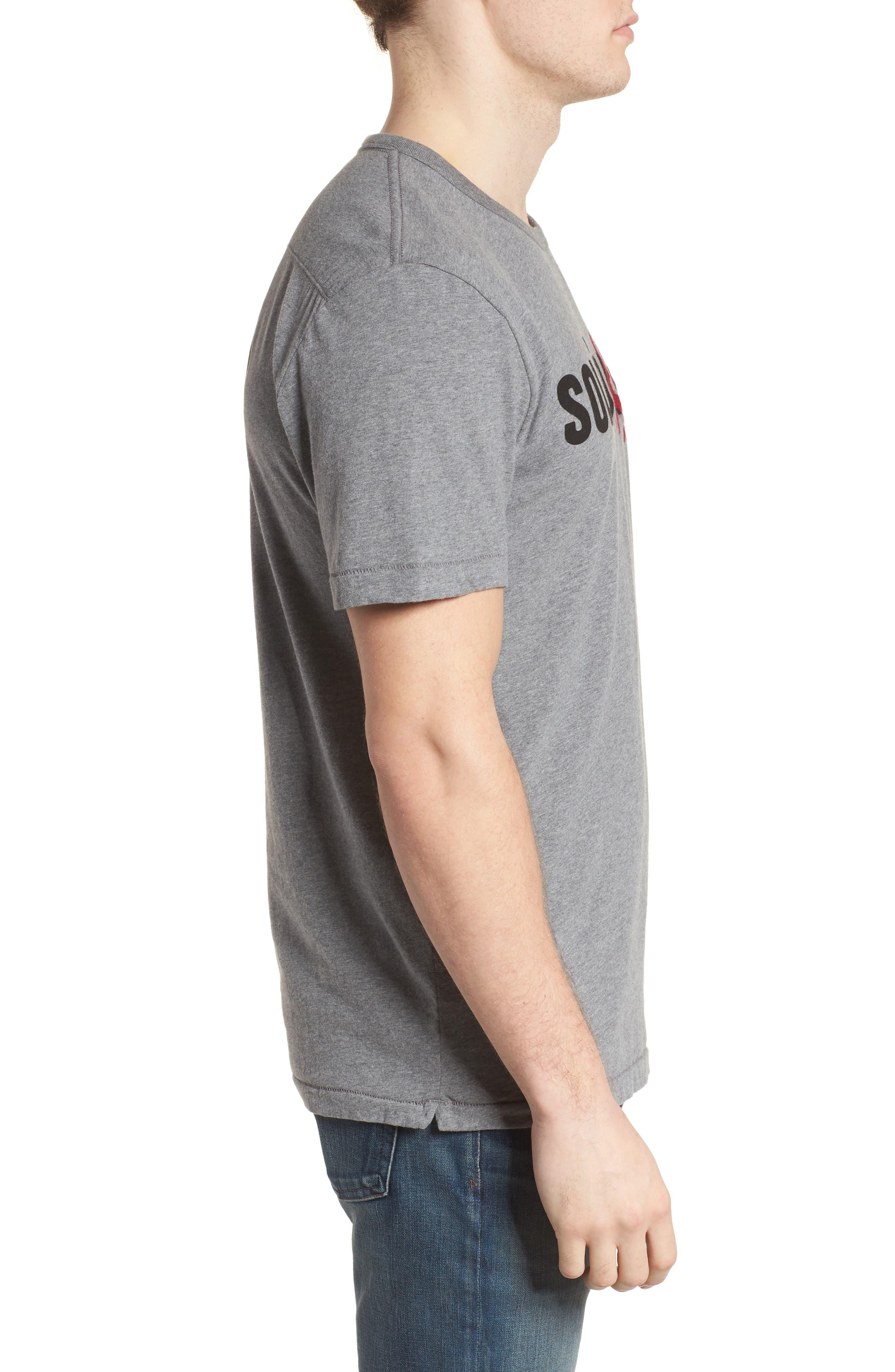 Solidarity Slim Fit Crewneck T-Shirt,                             Alternate thumbnail 3, color,                             Mid Grey Melange/ Black