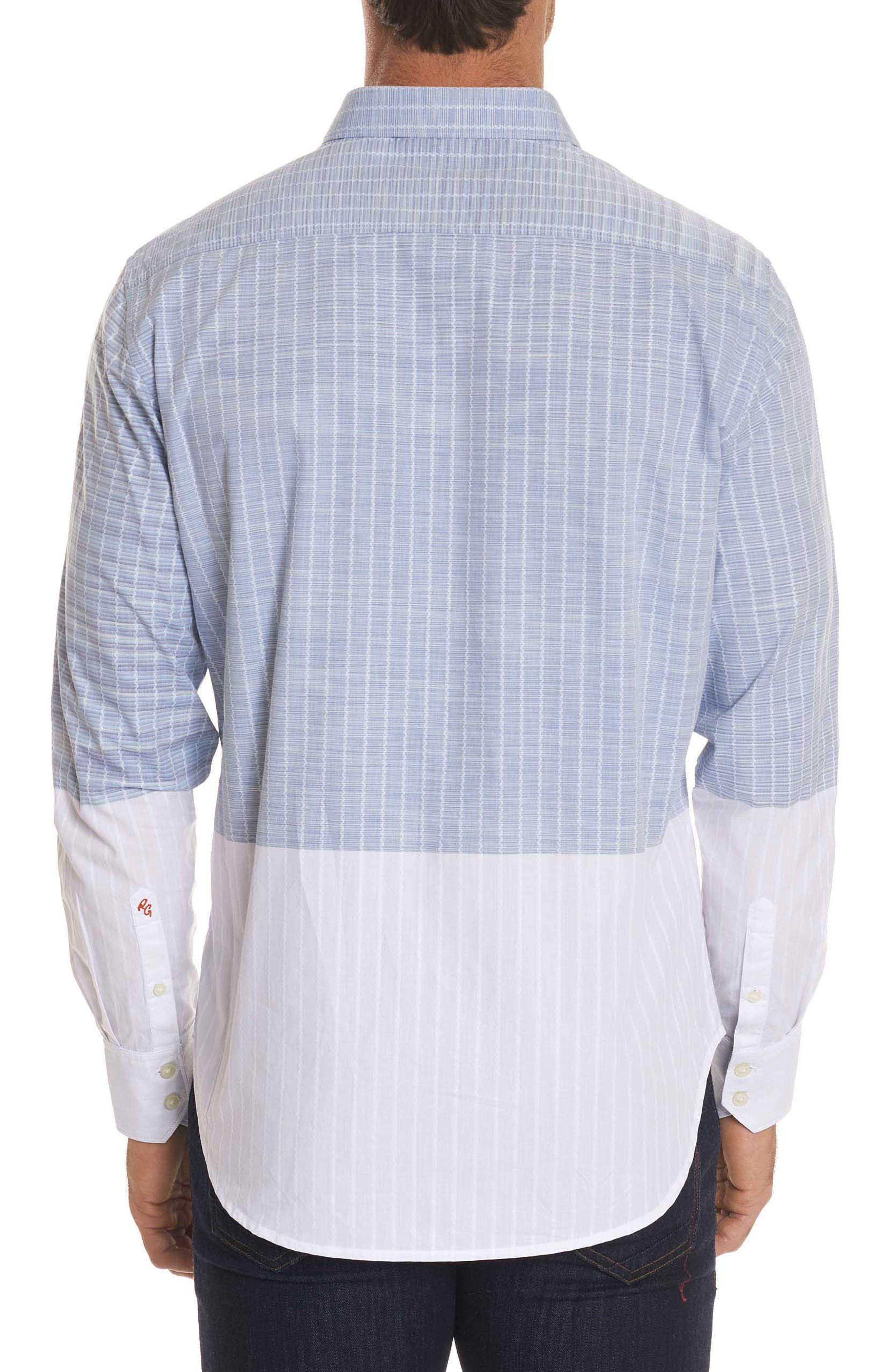 Cano Classic Fit Sport Shirt,                             Alternate thumbnail 3, color,                             Blue