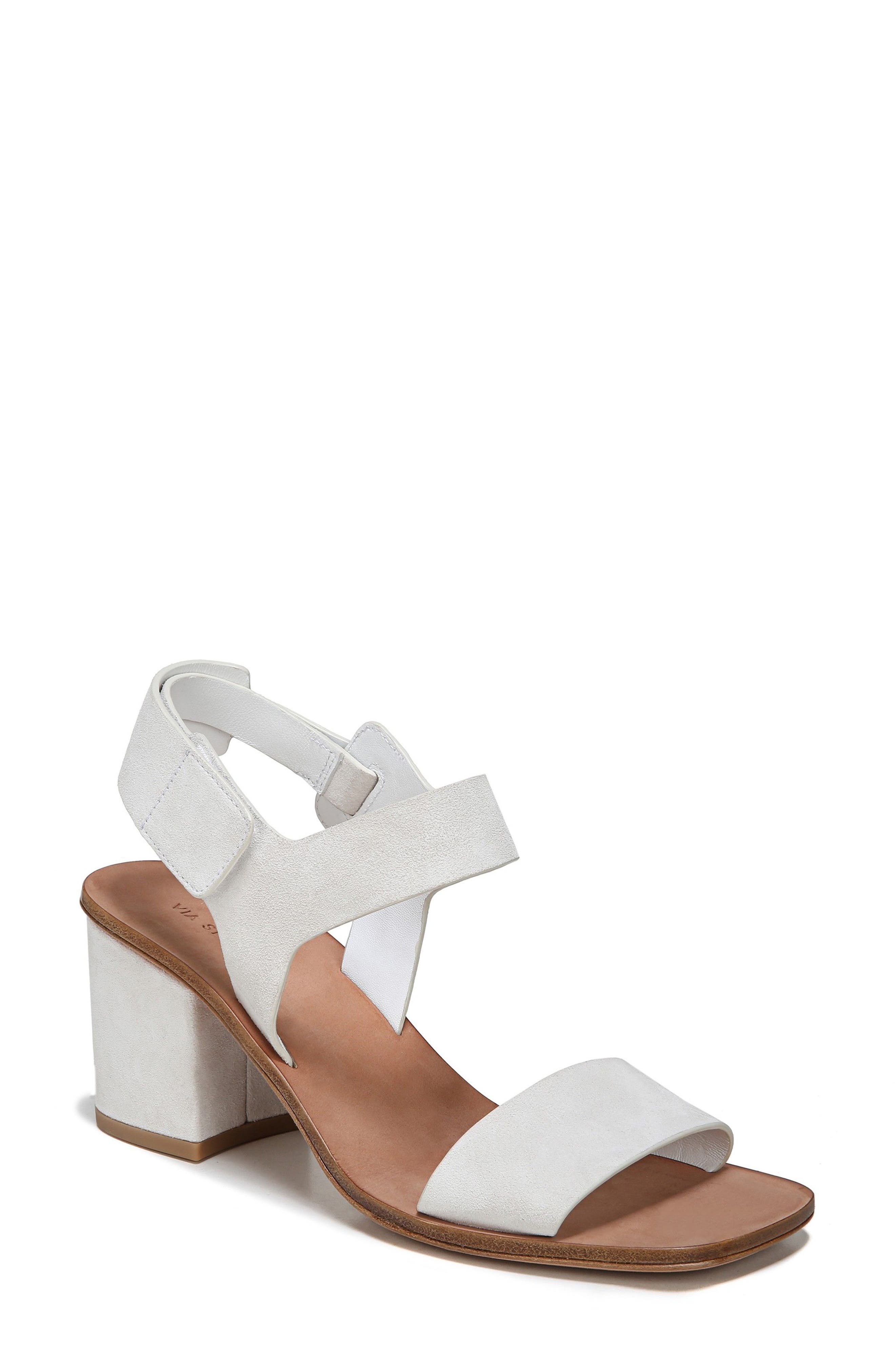 33f4f70af37 Via Spiga Kamille Block Heel Sandal In Bone Suede