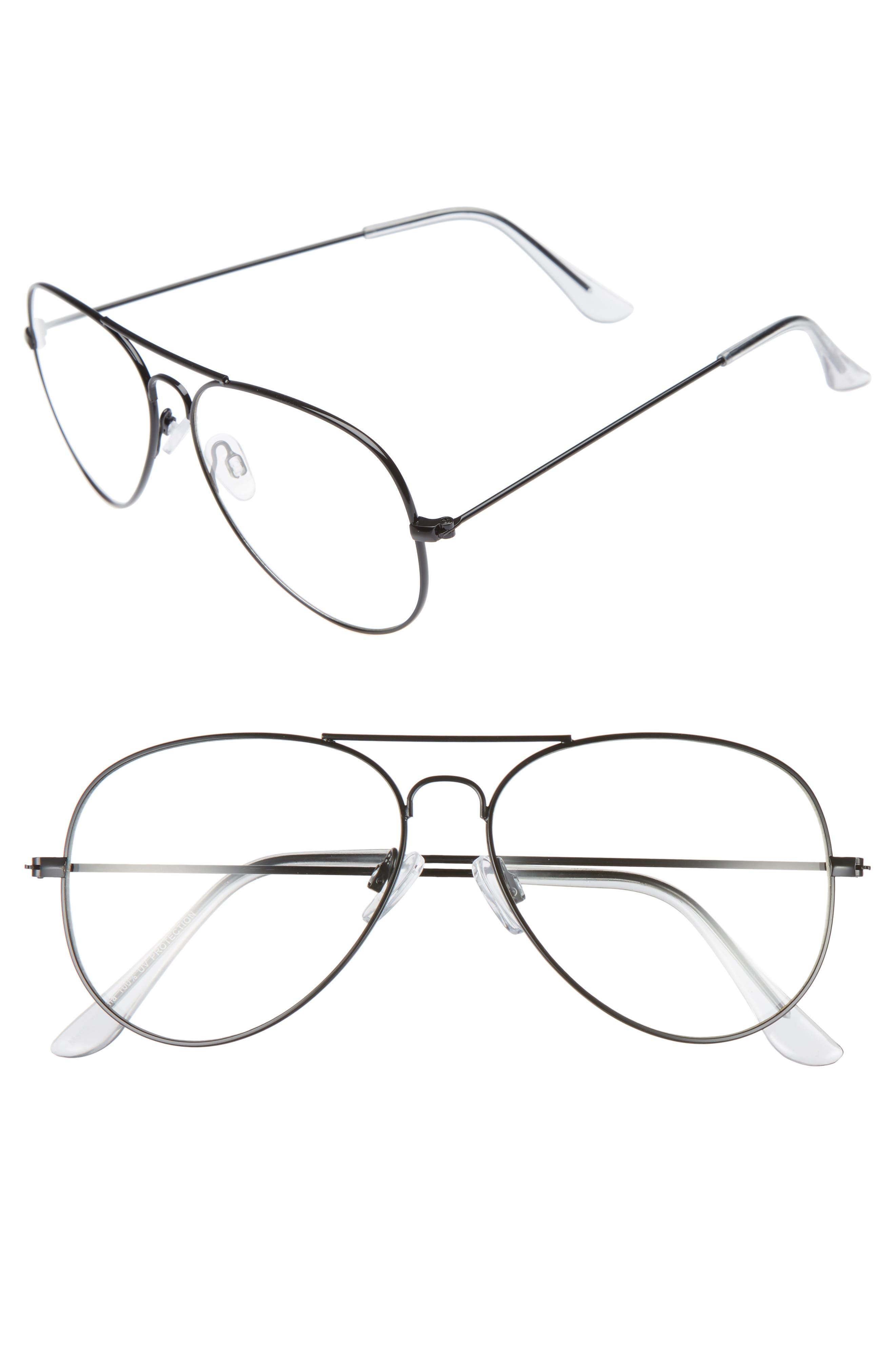 Main Image - BP. Mirrored Aviator 57mm Sunglasses