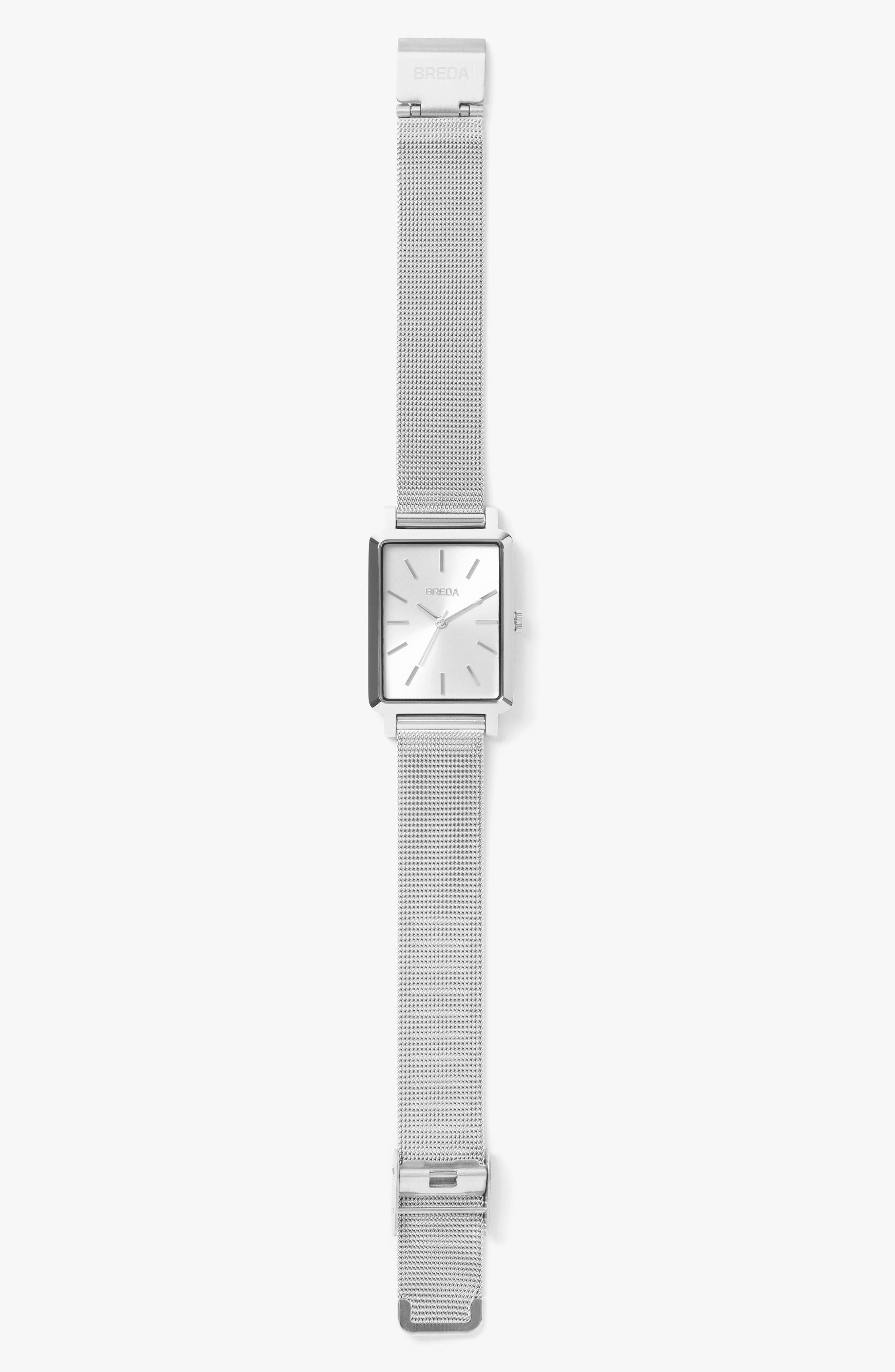 Baer Mesh Strap Watch, 26mm,                             Alternate thumbnail 2, color,                             Silver