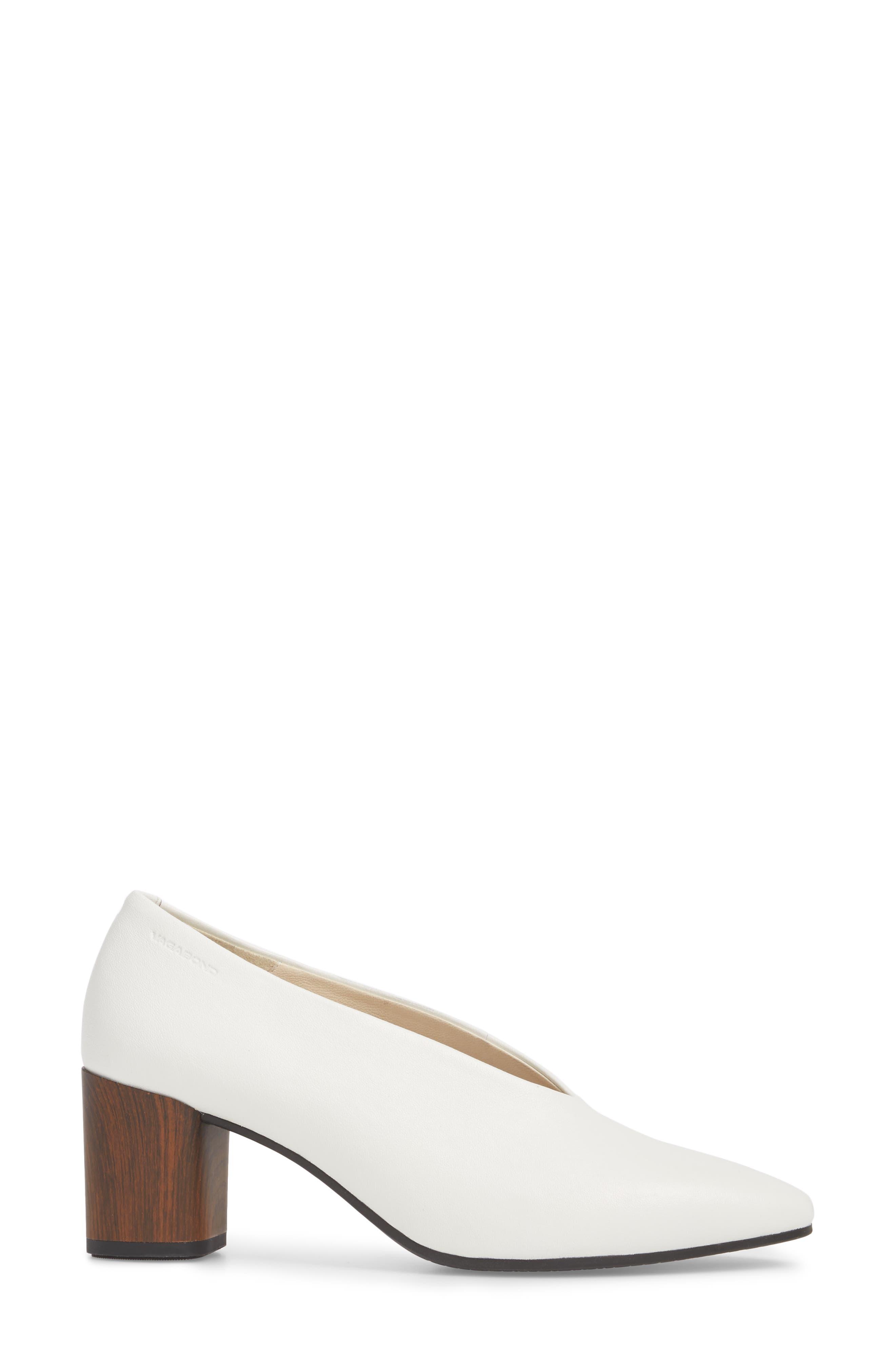 Eve Pump,                             Alternate thumbnail 3, color,                             Cream White Leather