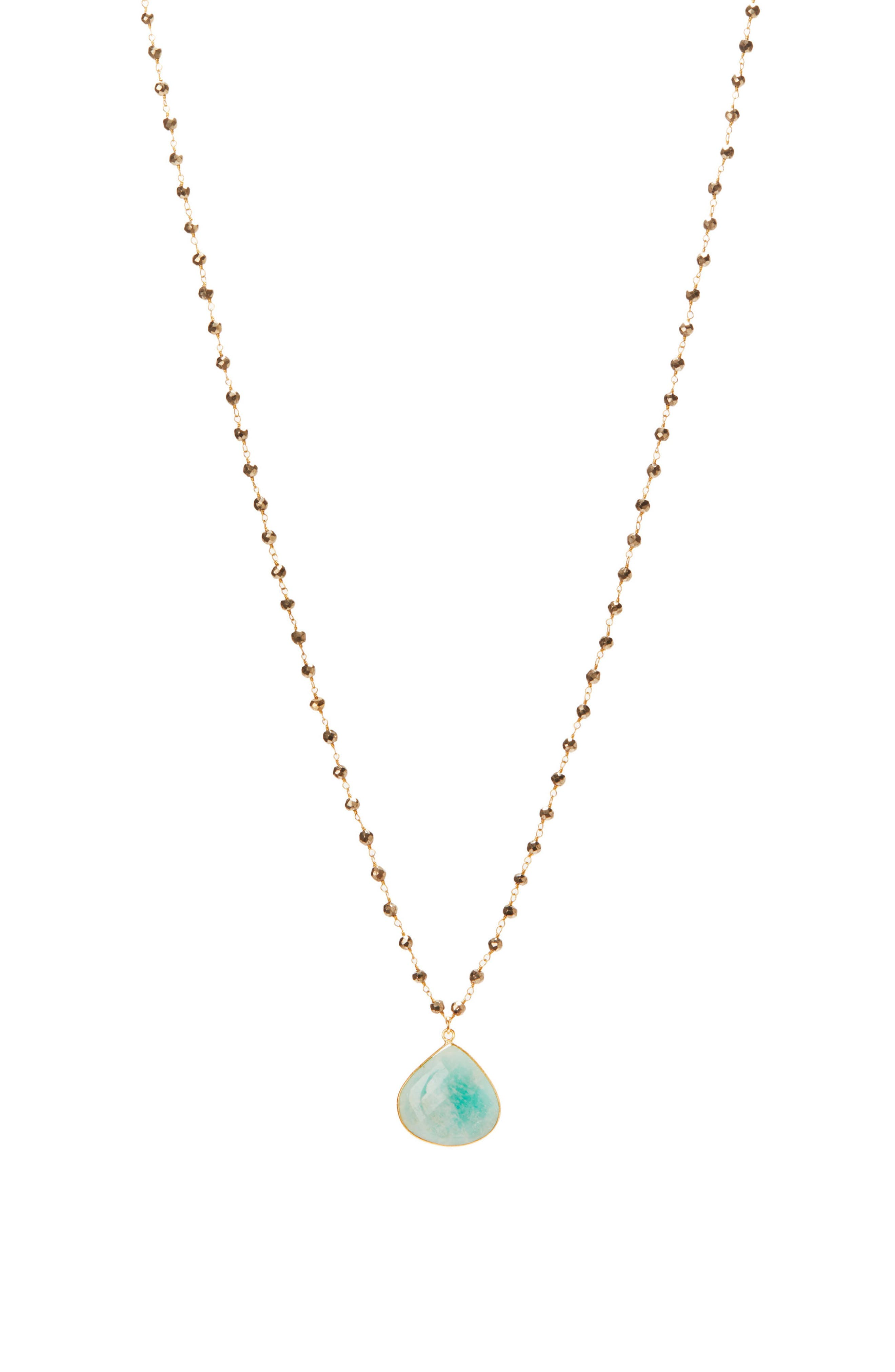 Monterey Semiprecious Stone Pendant Necklace,                         Main,                         color, Amazonite