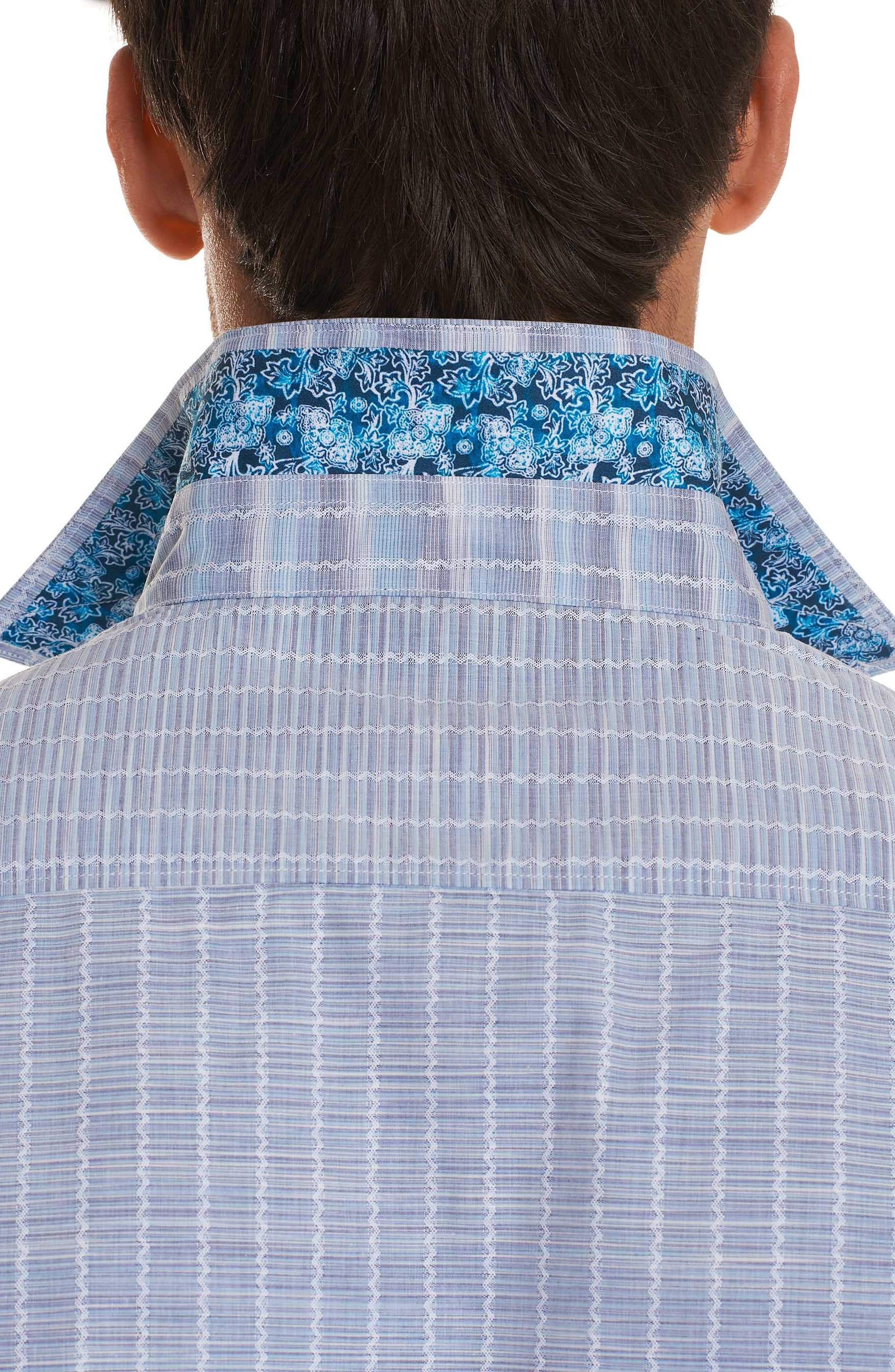 Cano Classic Fit Sport Shirt,                             Alternate thumbnail 5, color,                             Blue