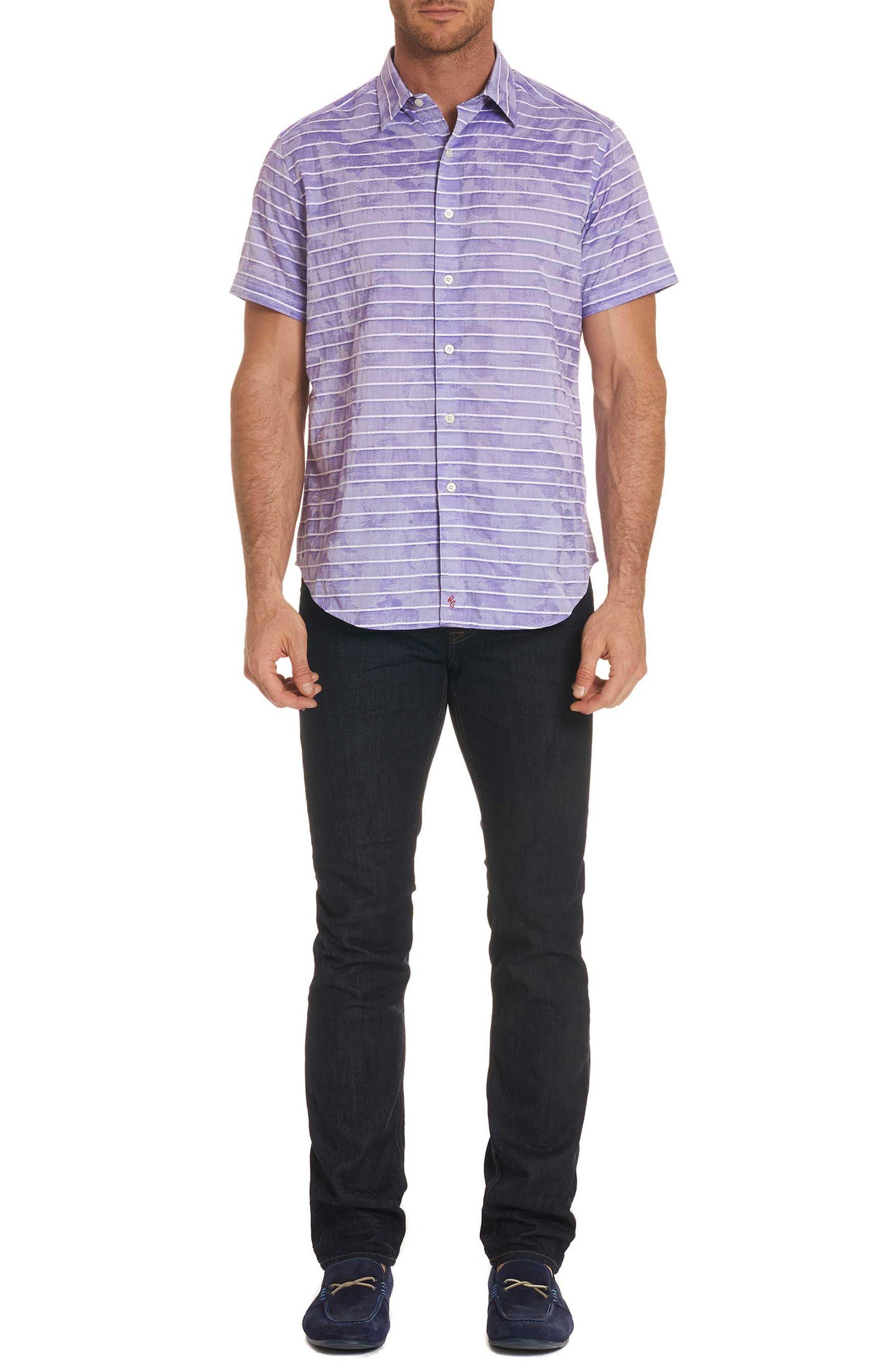 Avenida Classic Fit Jacquard Sport Shirt,                             Alternate thumbnail 7, color,                             Purple