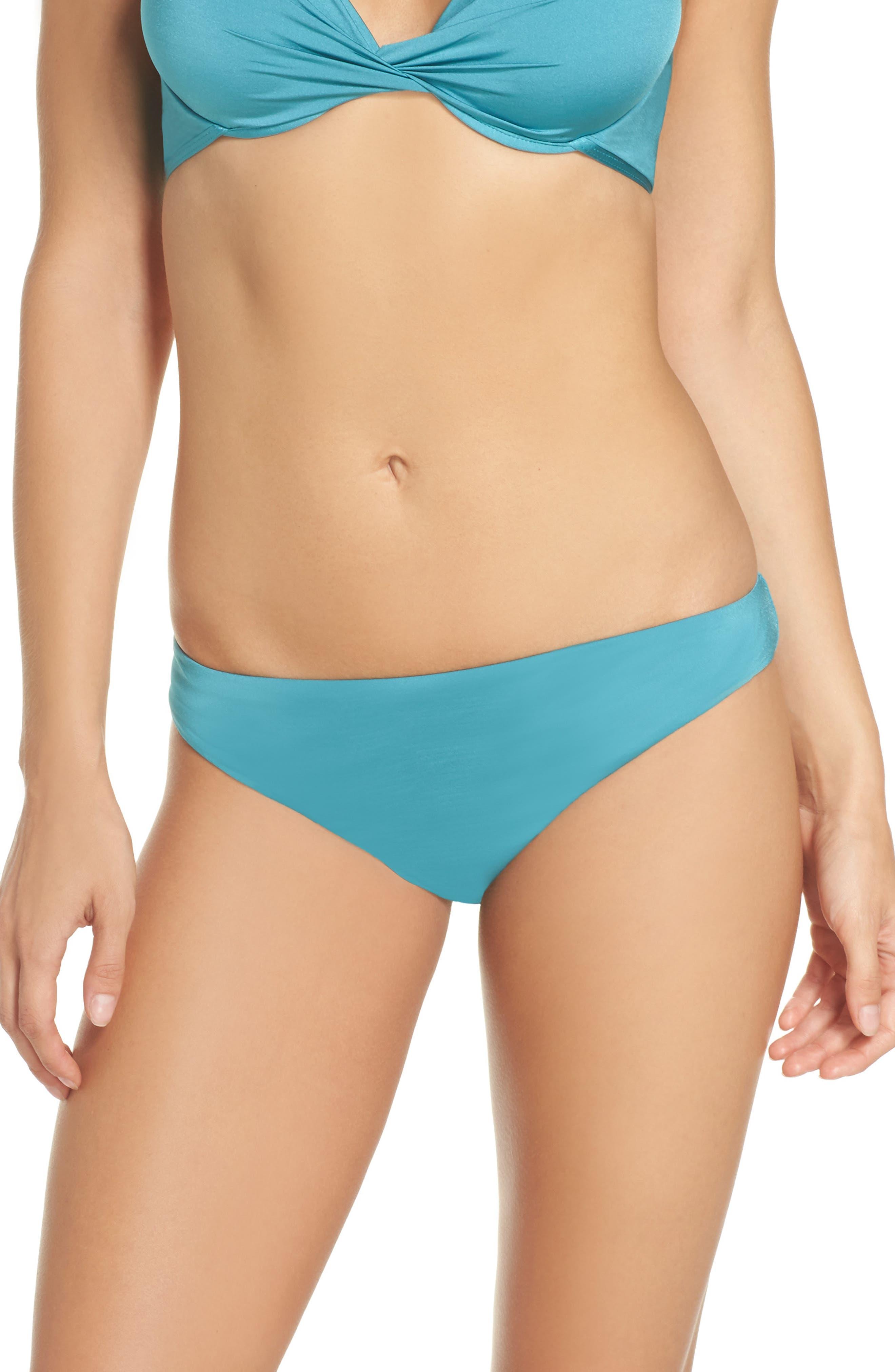 Hipster Bikini Bottoms,                         Main,                         color, Aqua