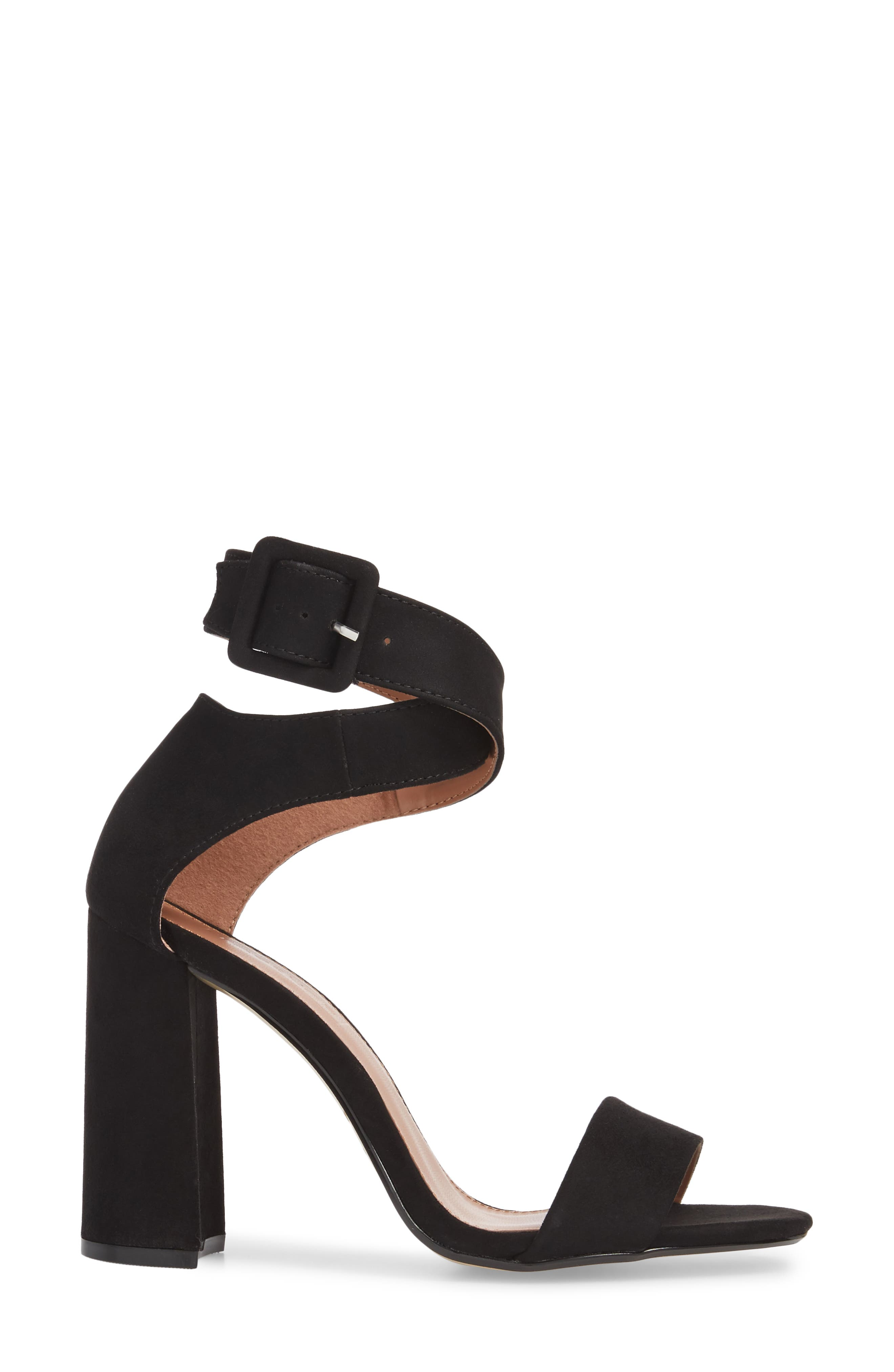 Sinitta Crossover Sandal,                             Alternate thumbnail 3, color,                             Black
