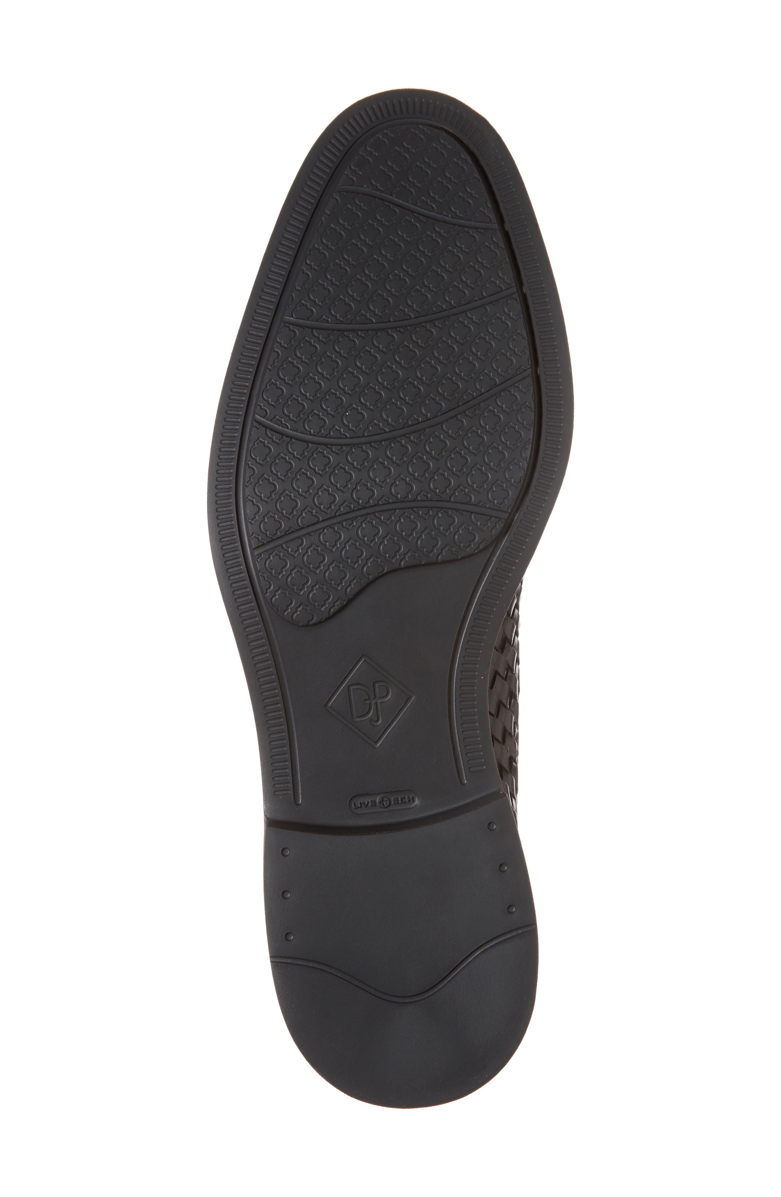 Eloi woven Derby,                             Alternate thumbnail 6, color,                             Black Leather