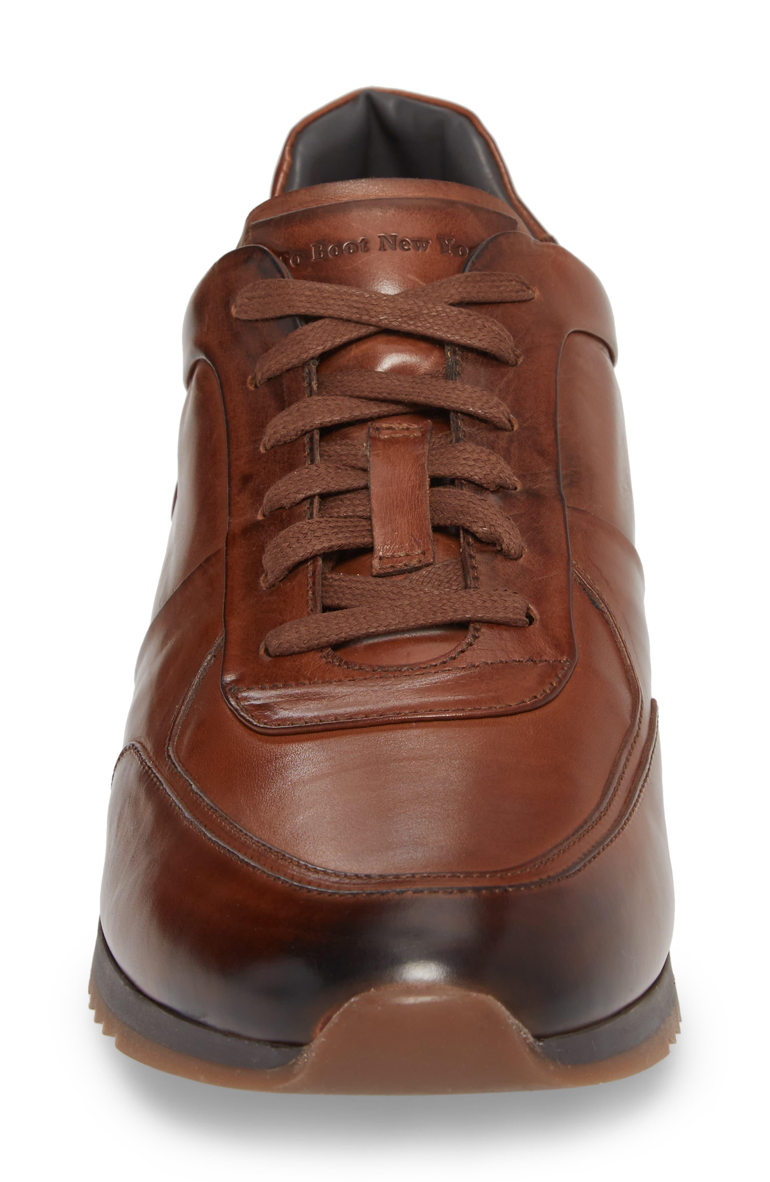Lenox Low Top Sneaker,                             Alternate thumbnail 4, color,                             Tan Leather