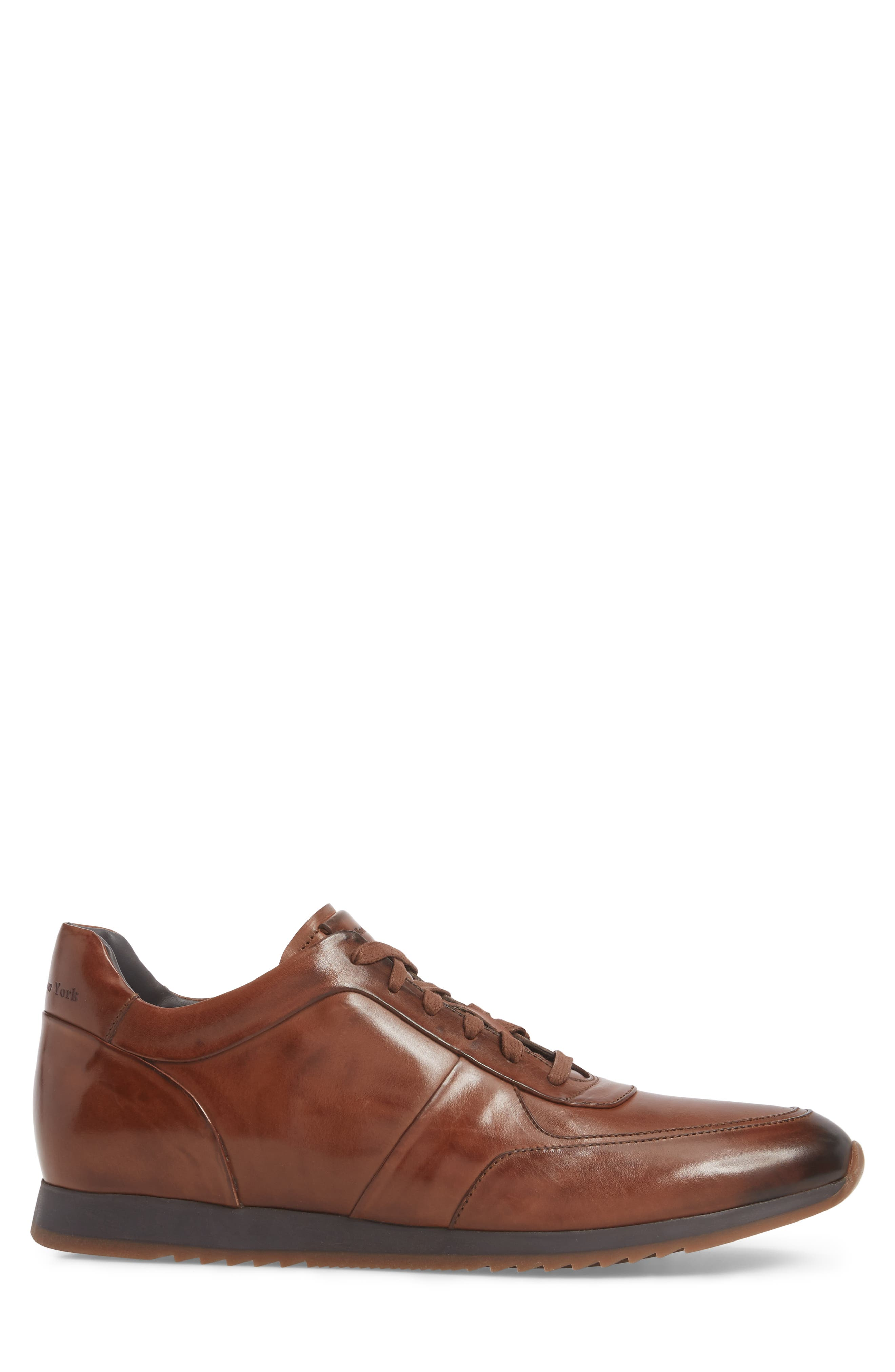 Lenox Low Top Sneaker,                             Alternate thumbnail 3, color,                             Tan Leather