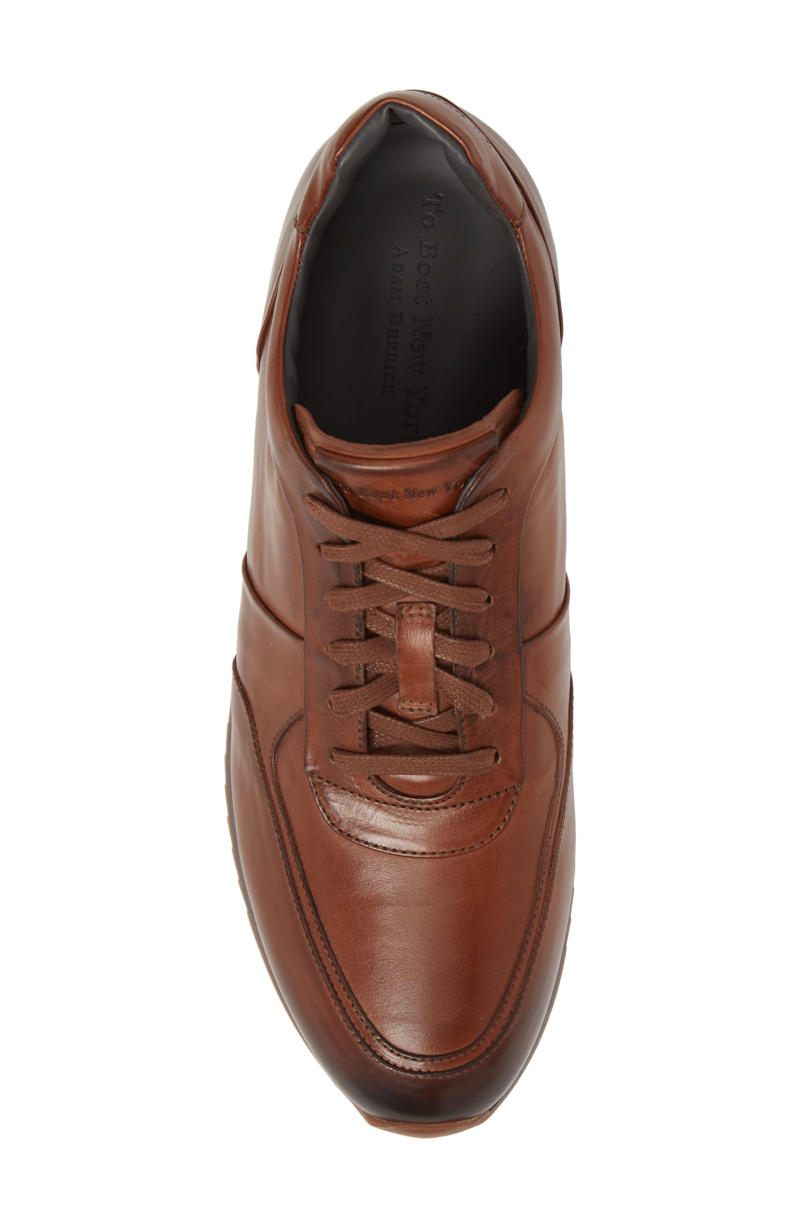 Lenox Low Top Sneaker,                             Alternate thumbnail 5, color,                             Tan Leather
