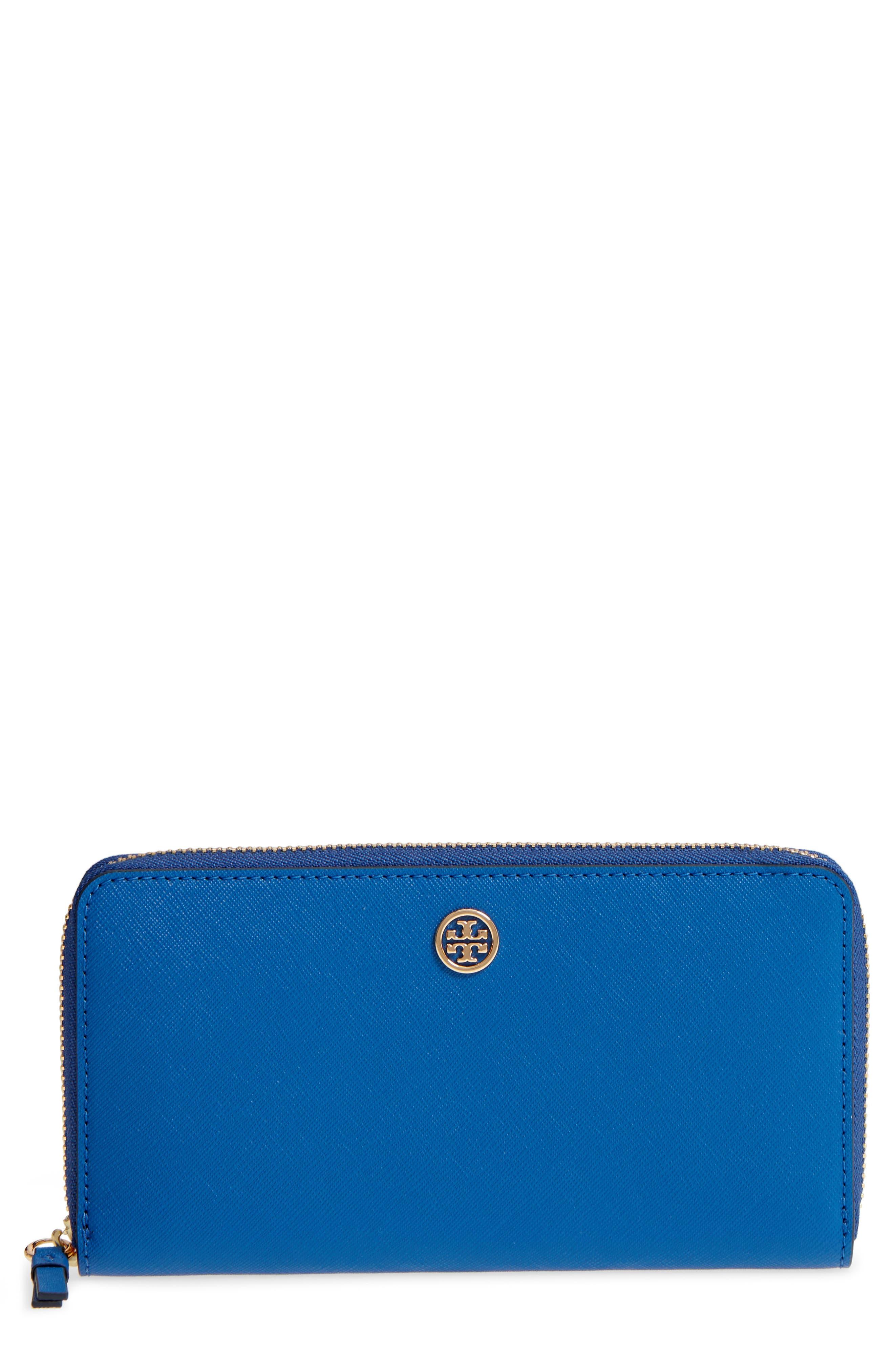 Robinson Zip Continental Wallet,                             Main thumbnail 1, color,                             Regal Blue / Royal Navy