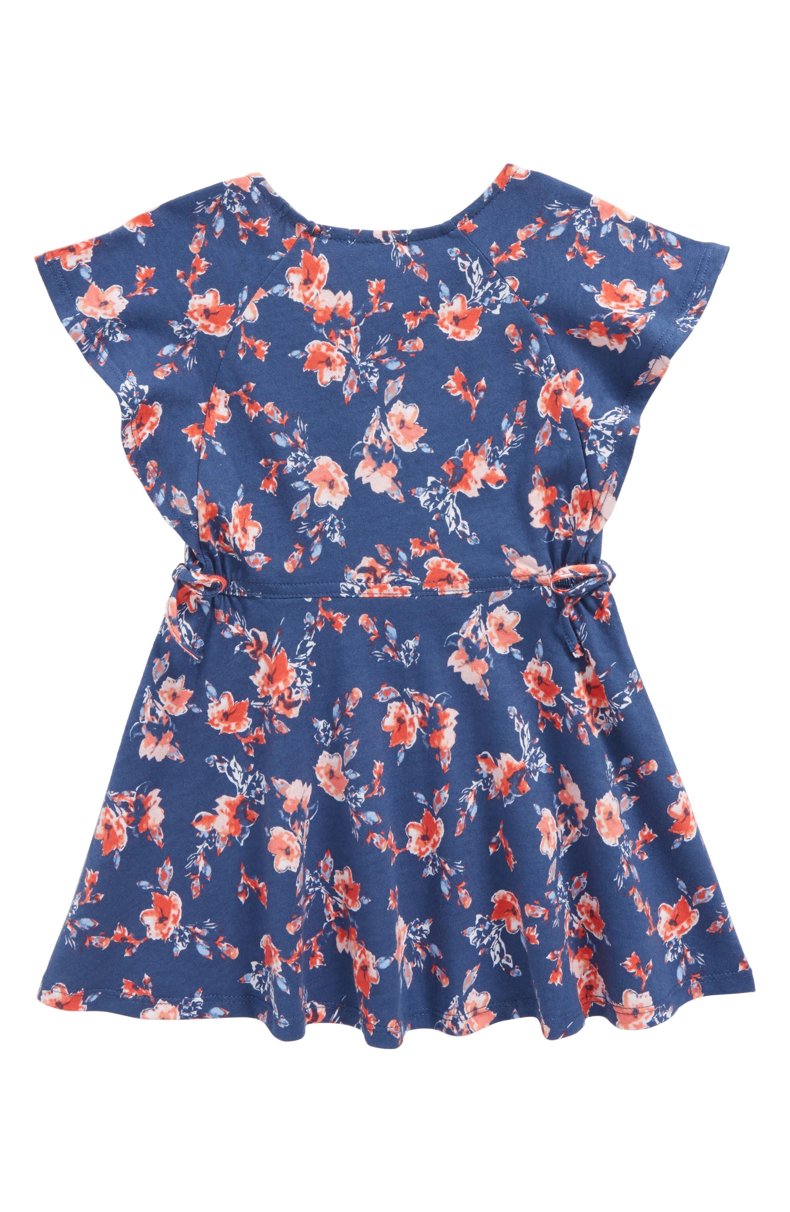 Ruffle Dress,                             Alternate thumbnail 2, color,                             Indigo Fade