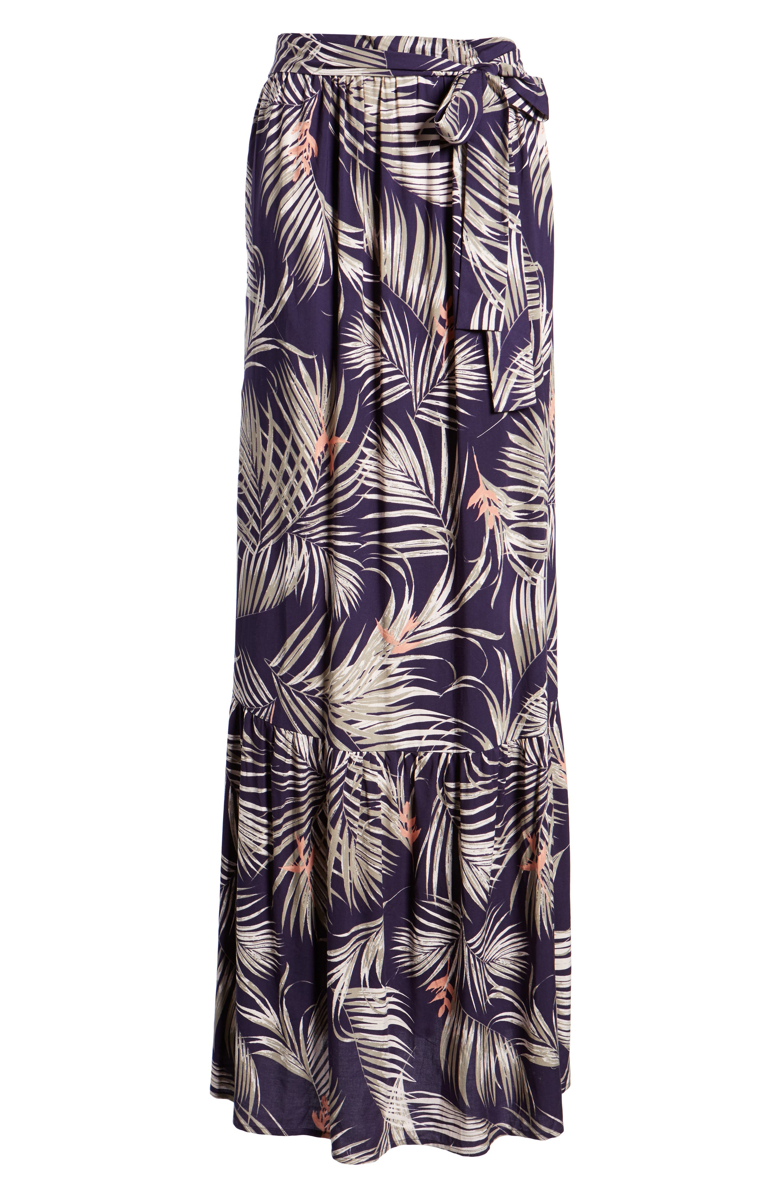 Sunset Cover-Up Maxi Dress,                             Alternate thumbnail 6, color,                             Latona Palm Evening Blue