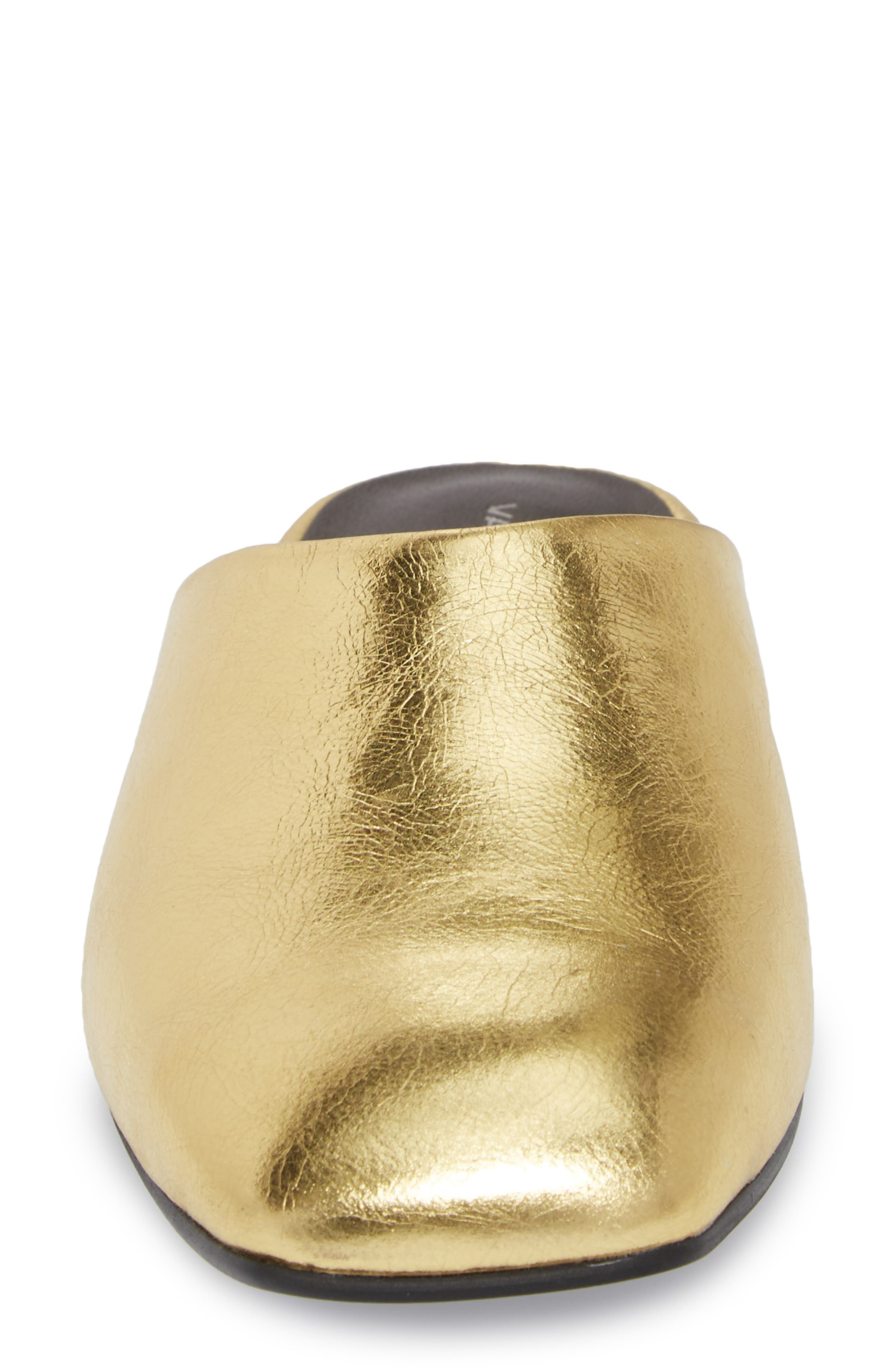 Dolores Mule,                             Alternate thumbnail 4, color,                             Gold Leather