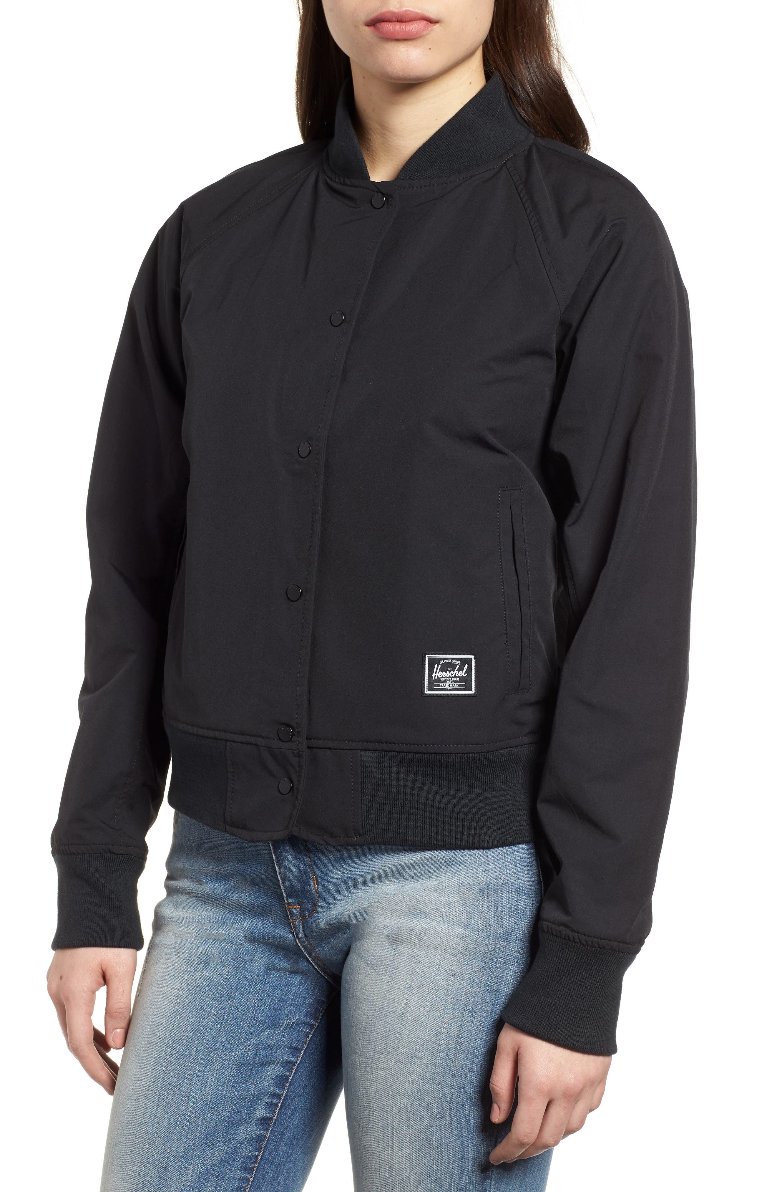 Varsity Jacket,                             Alternate thumbnail 4, color,                             Black/ Shadow