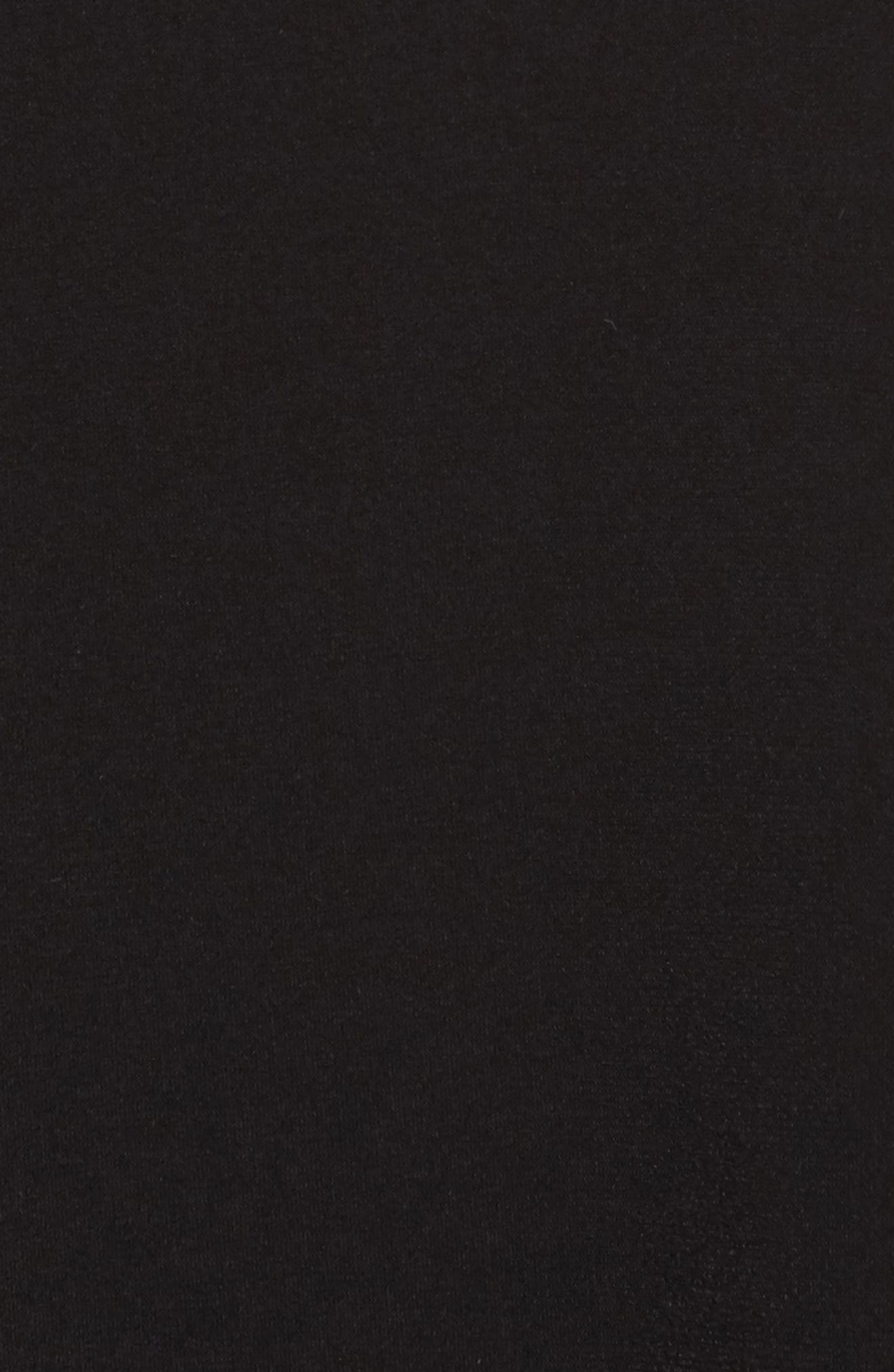 Stripe Bell Sleeve Top,                             Alternate thumbnail 6, color,                             Black