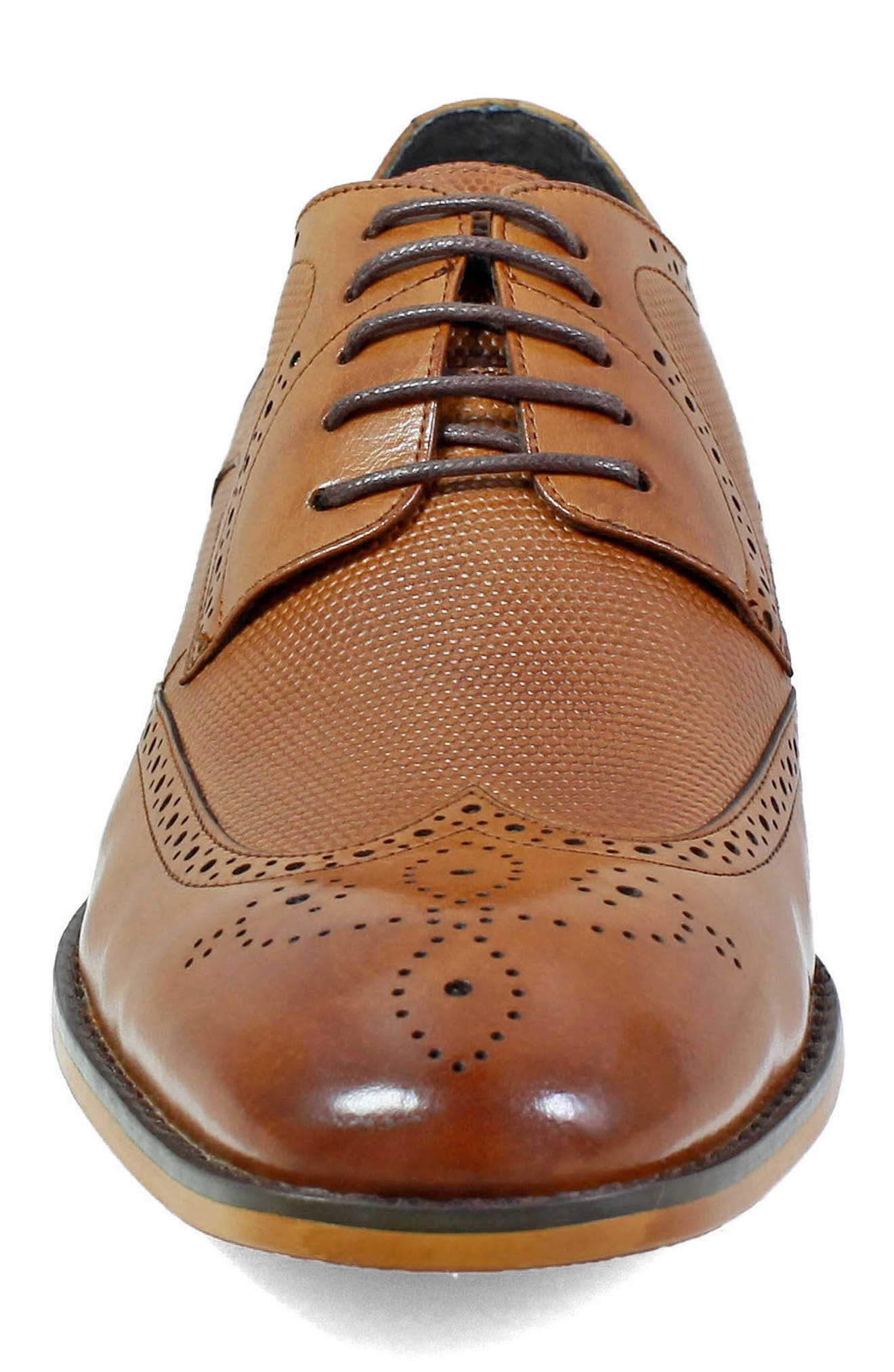 Lindell Wingtip,                             Alternate thumbnail 4, color,                             Saddle Tan Leather