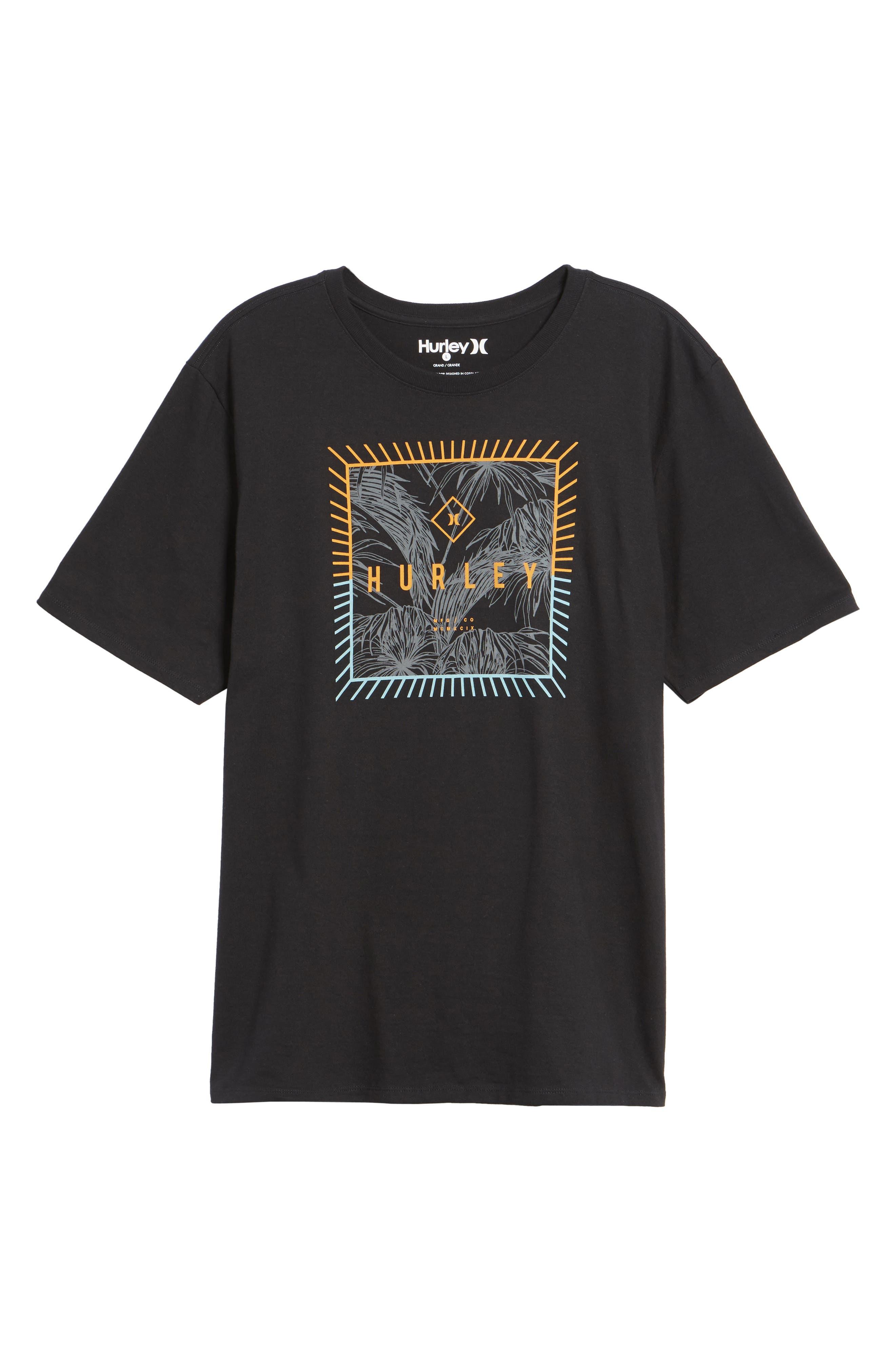 Be Fronds T-Shirt,                             Alternate thumbnail 6, color,                             Black