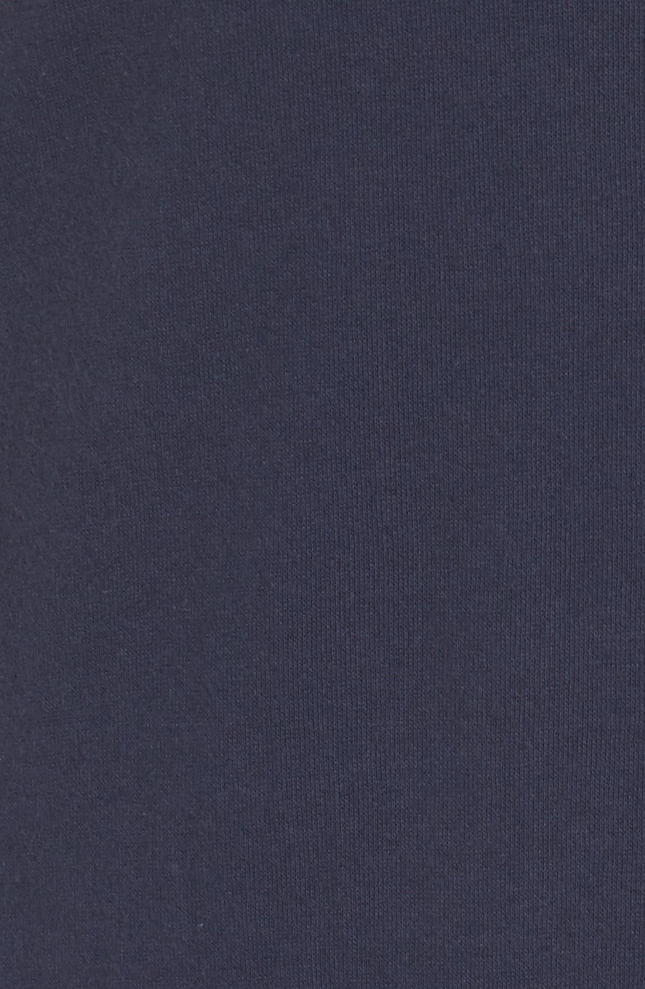 Ruched Shoulder Shift Dress,                             Alternate thumbnail 6, color,                             Navy Indigo