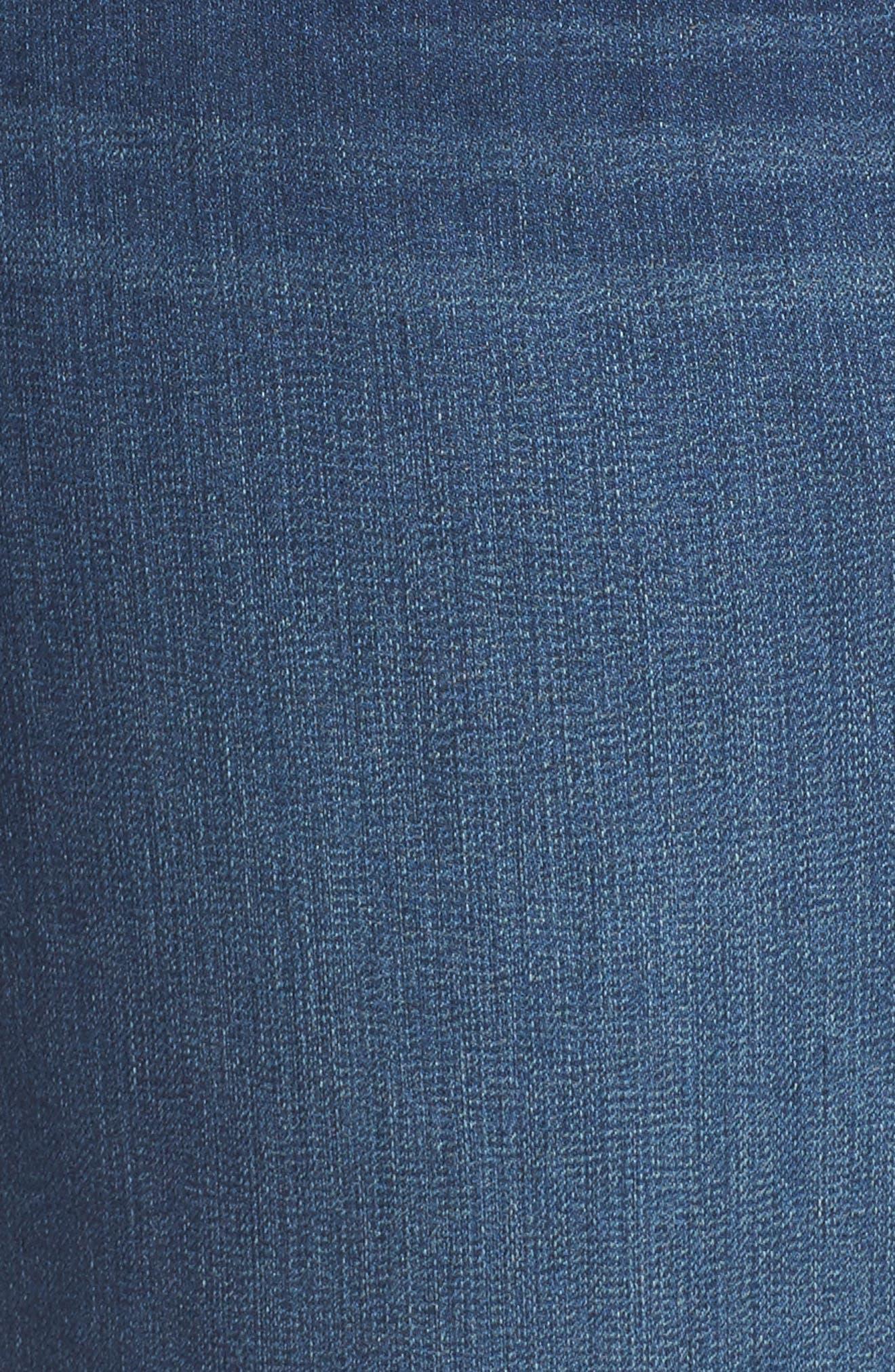 Ab-solution Denim Bermuda Shorts,                             Alternate thumbnail 6, color,                             Blue