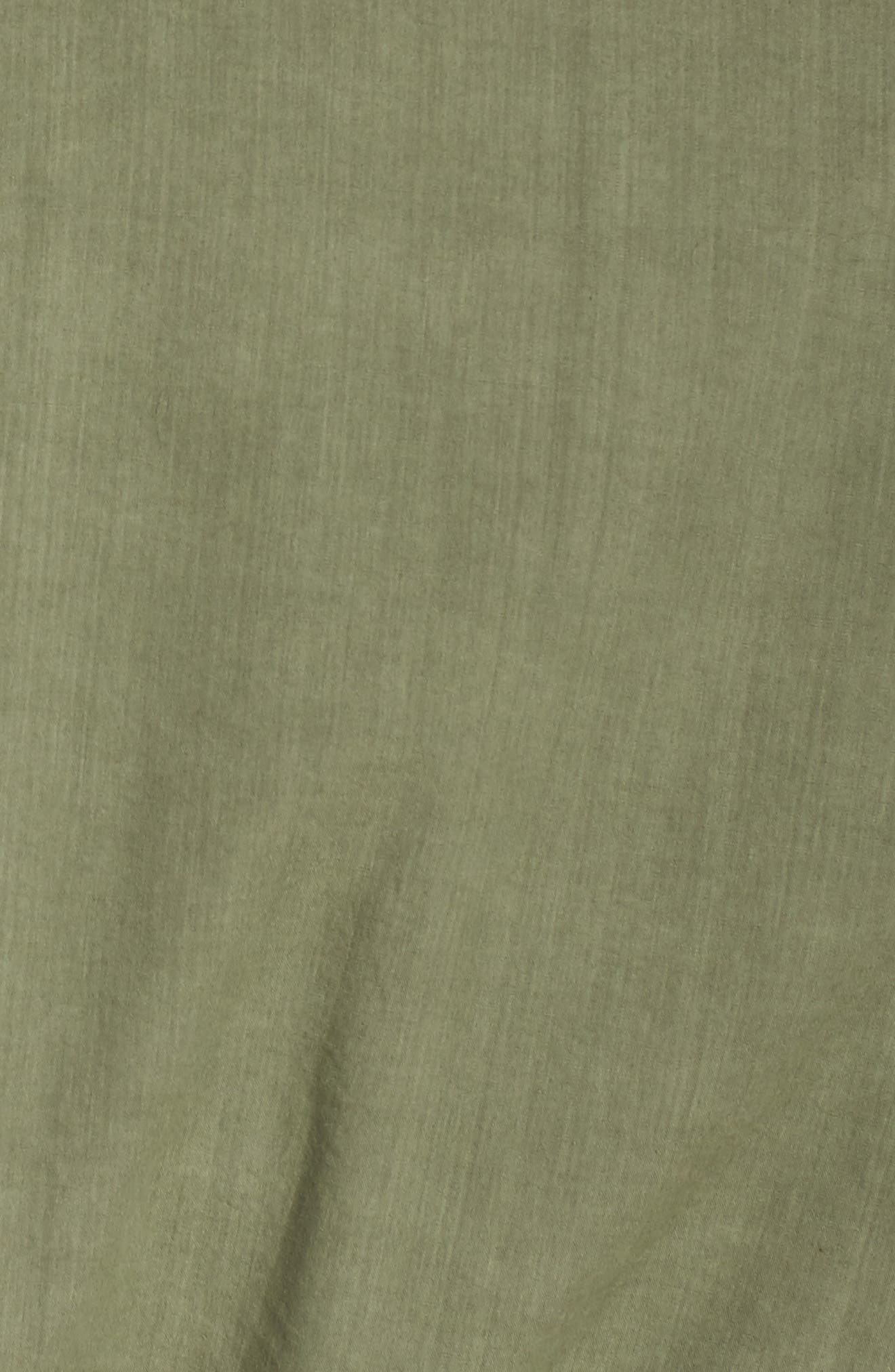 Cotton Military Jacket,                             Alternate thumbnail 5, color,                             Light Green