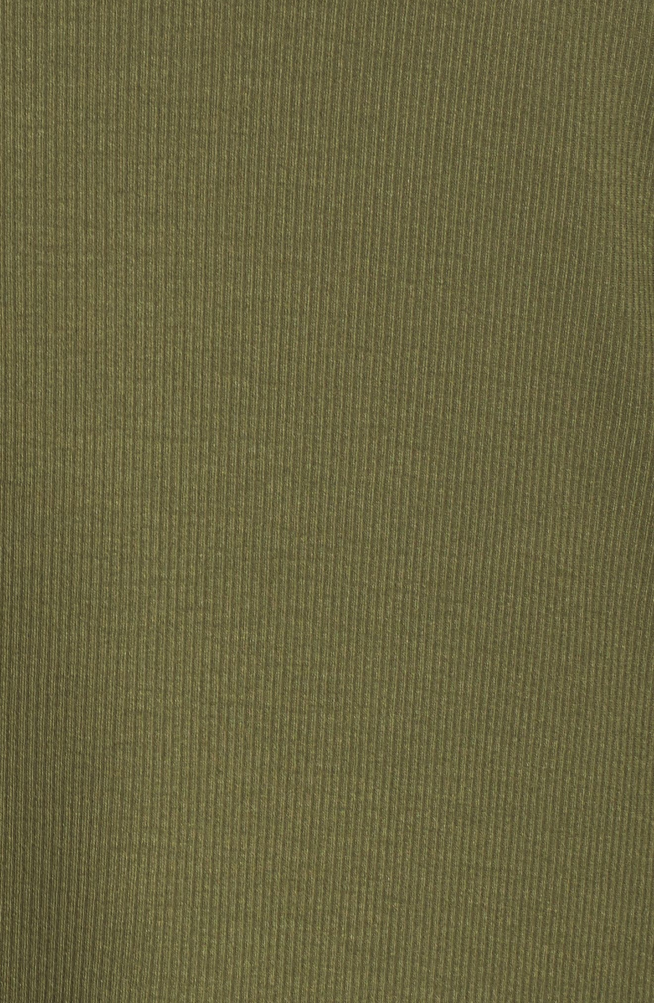 V-Neck Tunic Top,                             Alternate thumbnail 5, color,                             Olive Moss