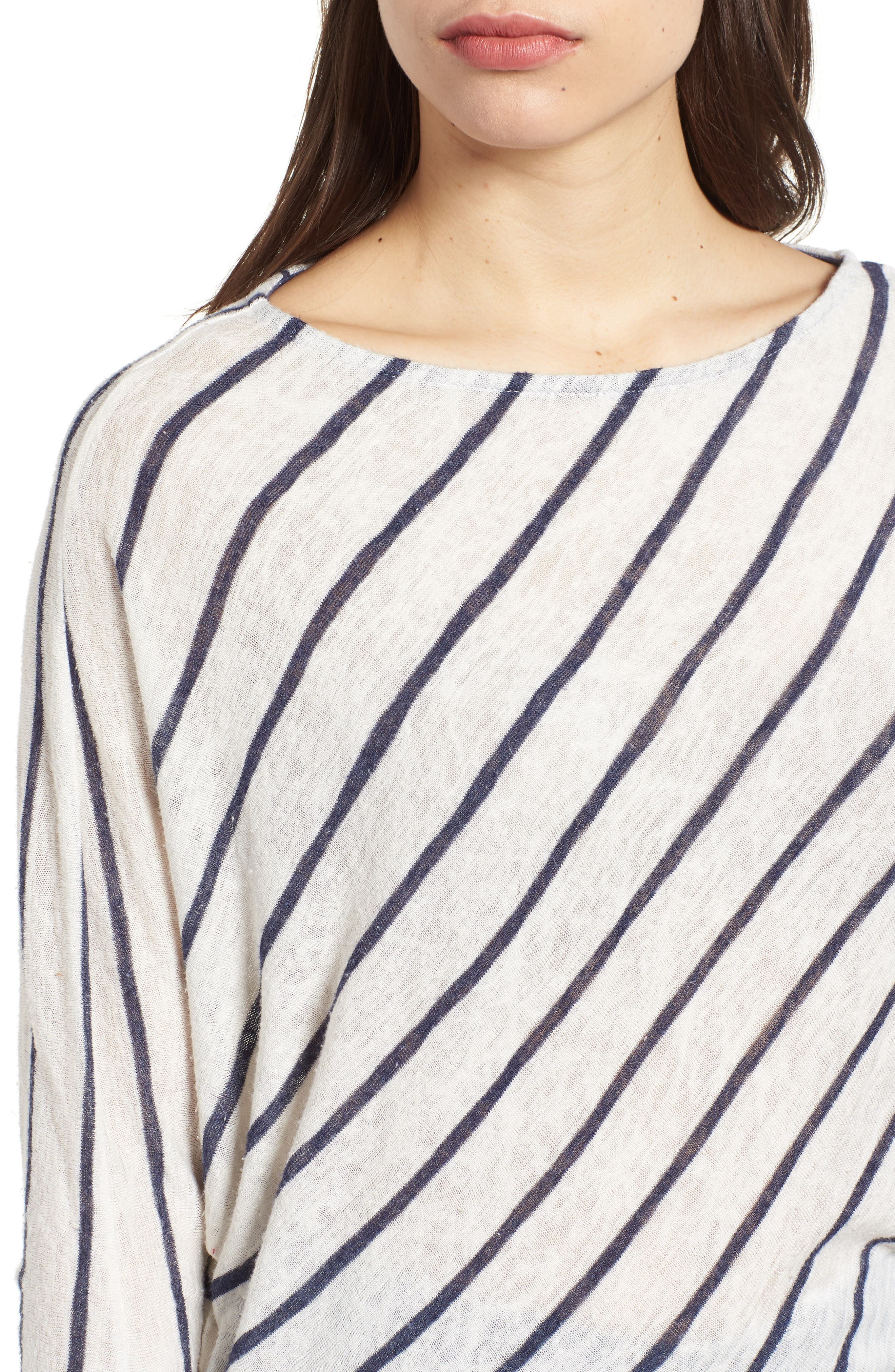 Stripe Dolman Sleeve Top,                             Alternate thumbnail 6, color,                             Cream