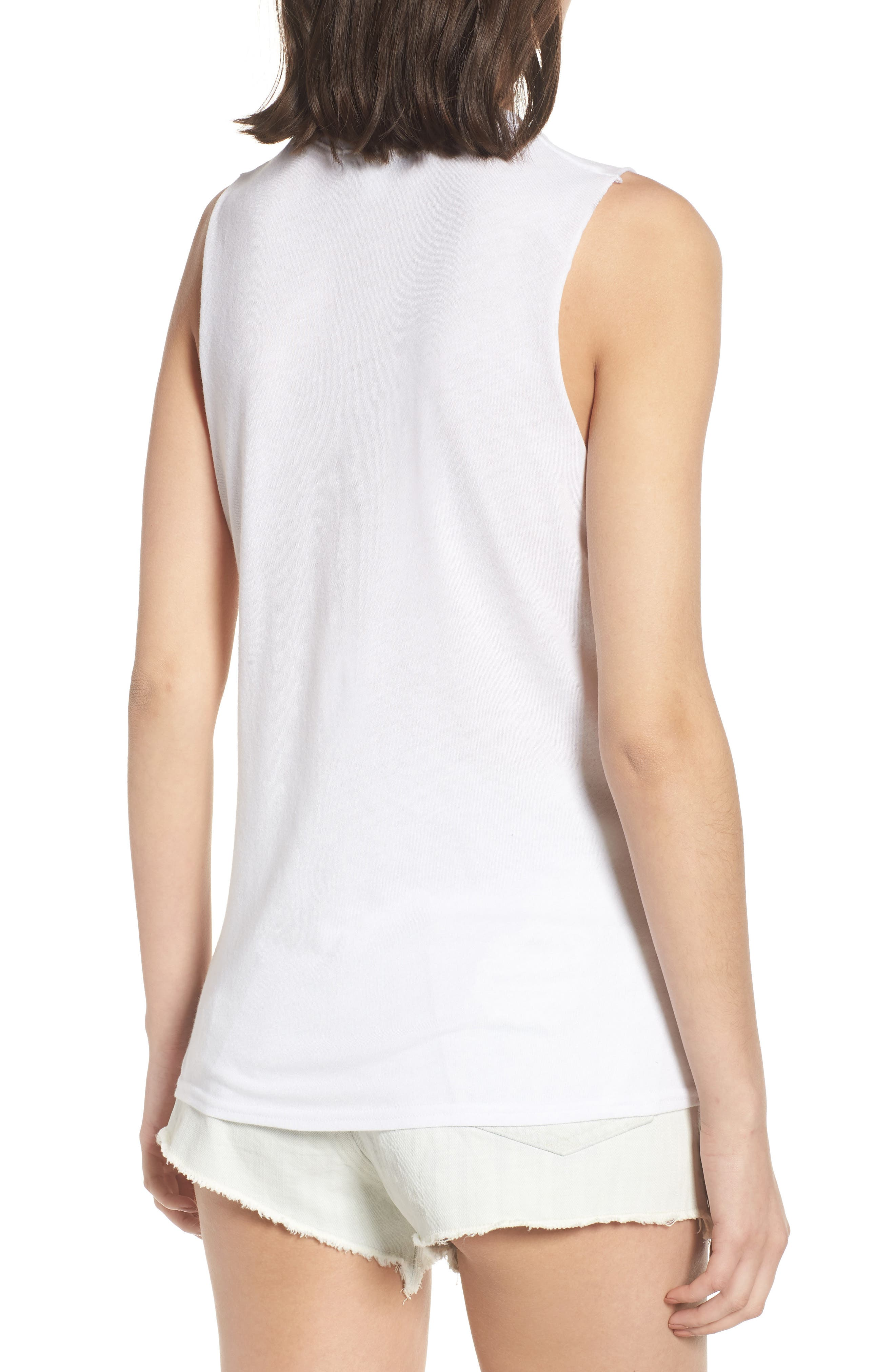 Gym and Juice Muscle Tank Top,                             Alternate thumbnail 2, color,                             White
