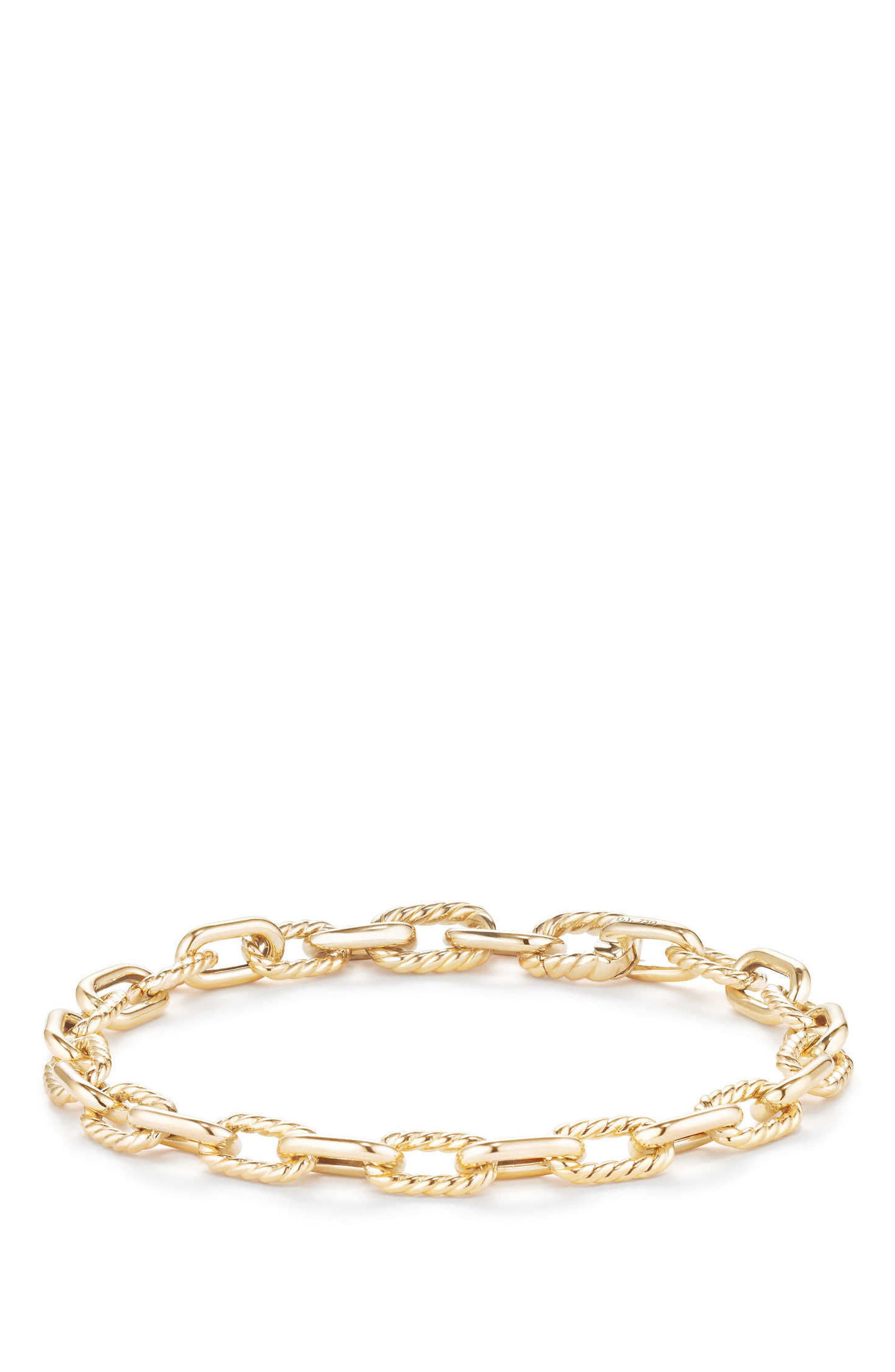 DY Madison Bold Chain Bracelet in 18K Gold,                             Alternate thumbnail 2, color,                             Gold