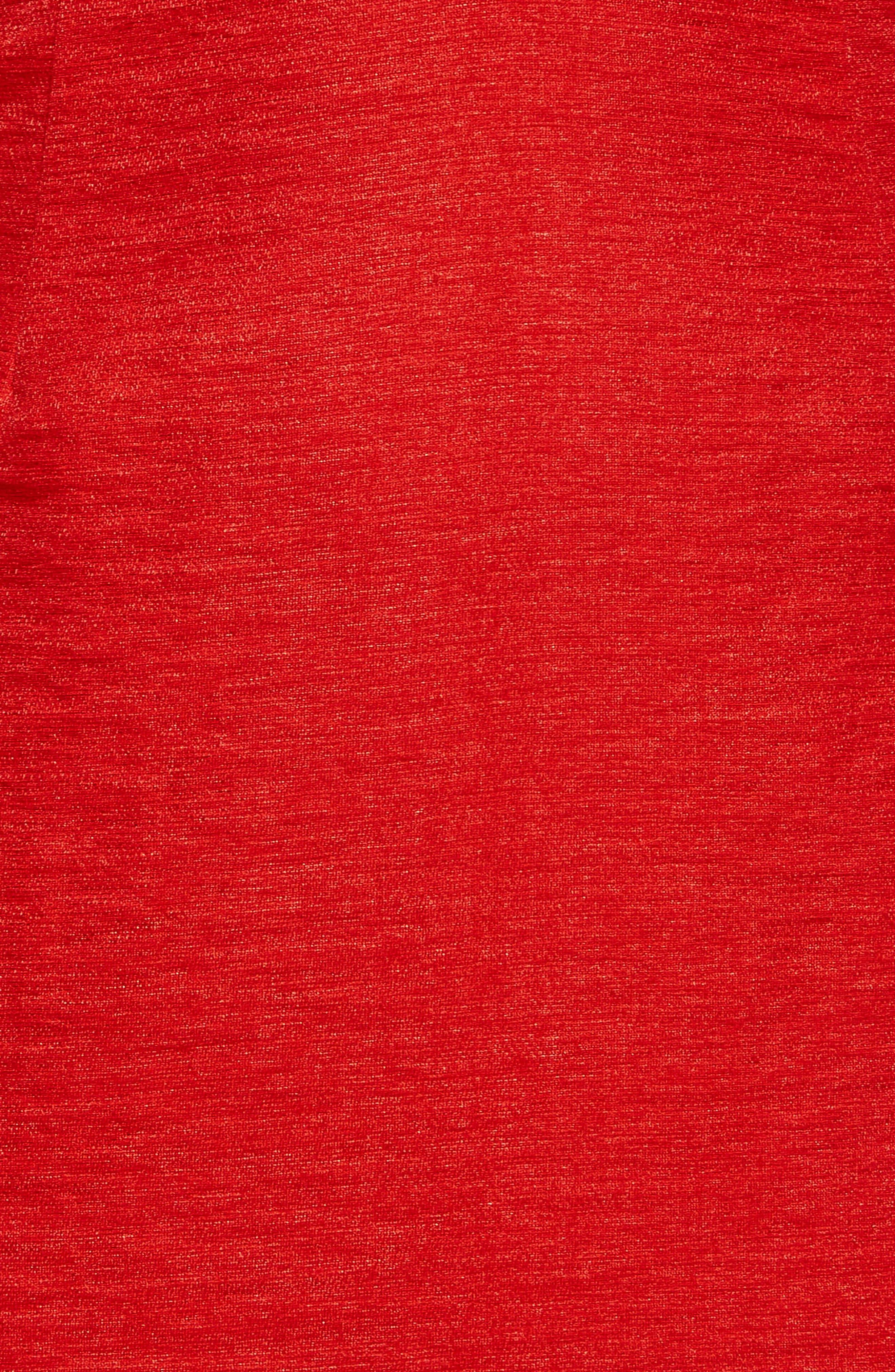 Devlin Off the Shoulder Dress,                             Alternate thumbnail 4, color,                             Lipstick